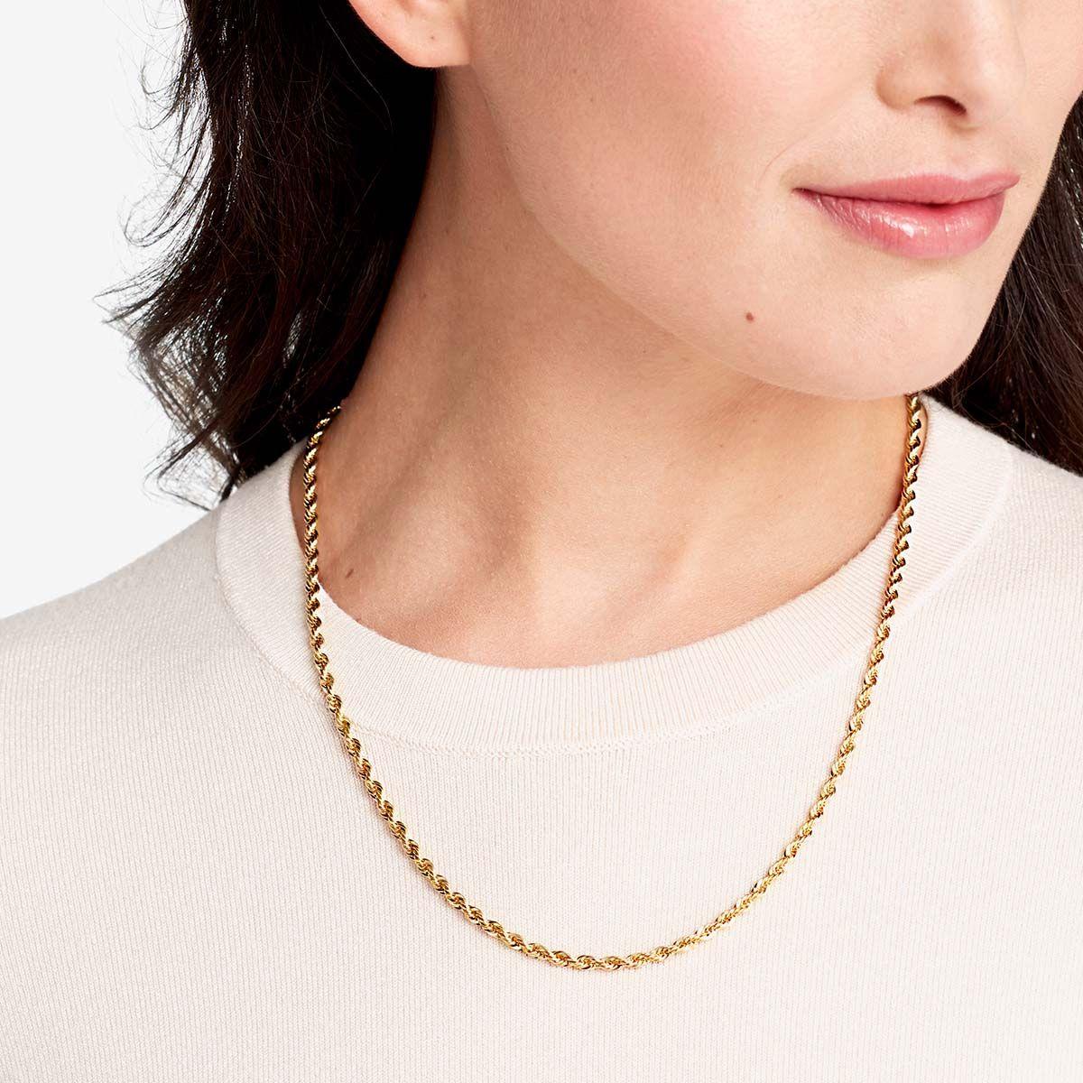 Rope Chain - Halsketten - 18k vergoldet