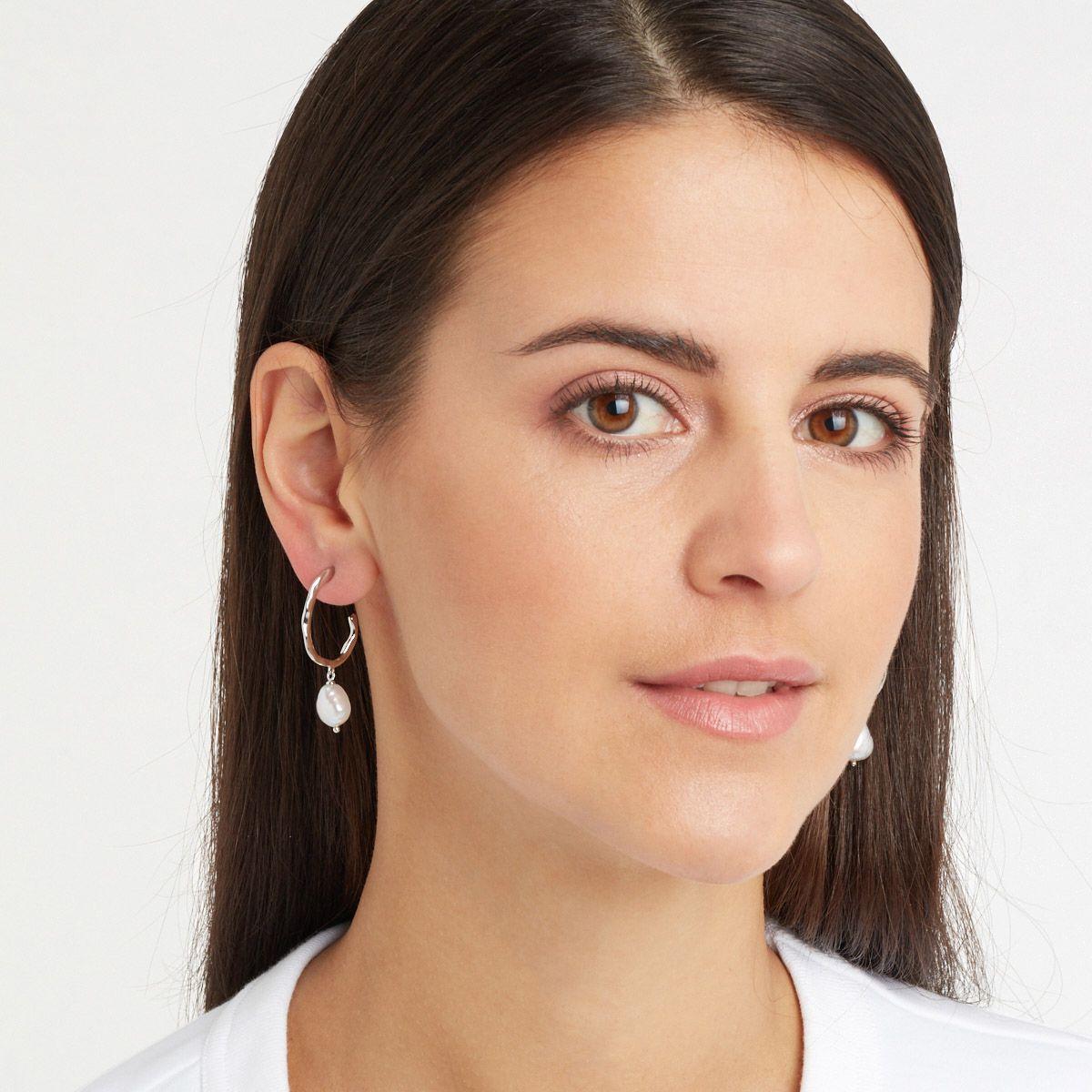 Caroline - Perlenohrringe - Silber