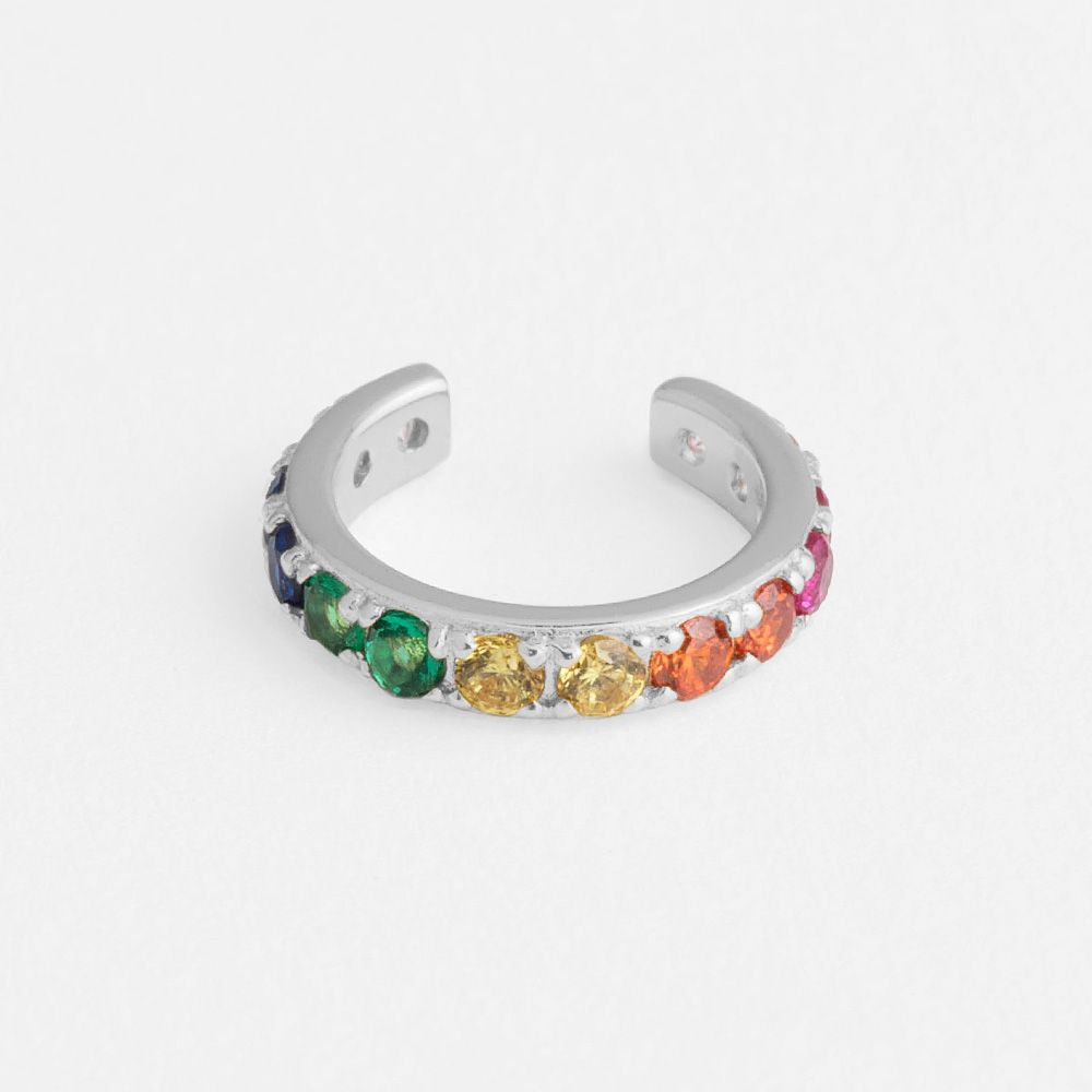 Rainbow Cuff Silver - Earcuffs - Silber