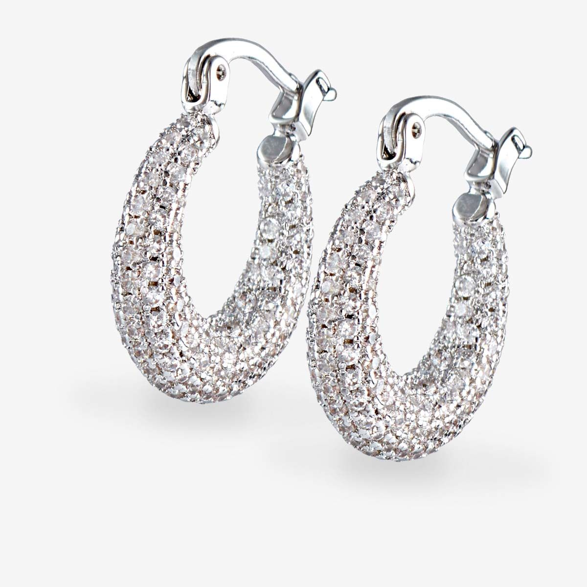 The pave mini martina hoops - Creolen - Silber