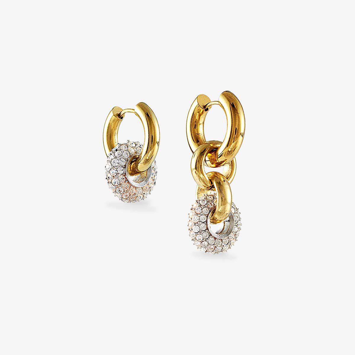 Disco donut earrings - Creolen - 24k vergoldet