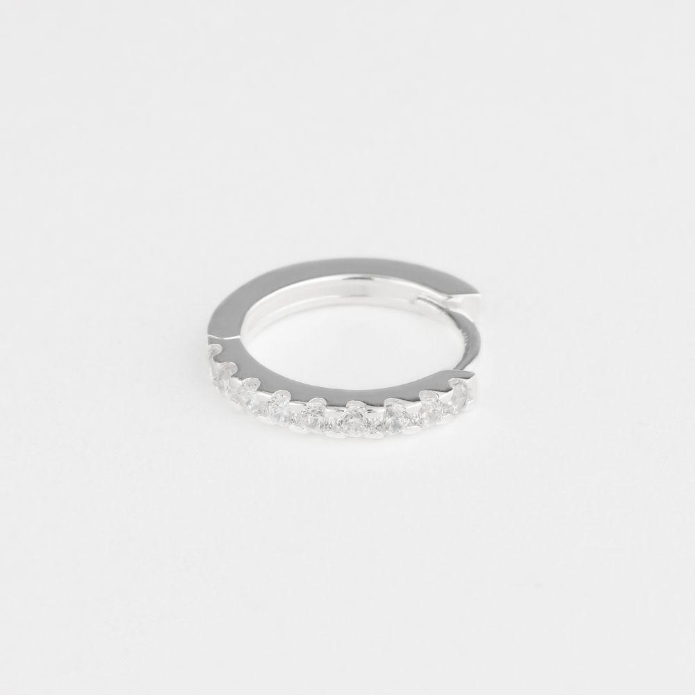 Kylee hoop - Single-Ohrringe - Silber