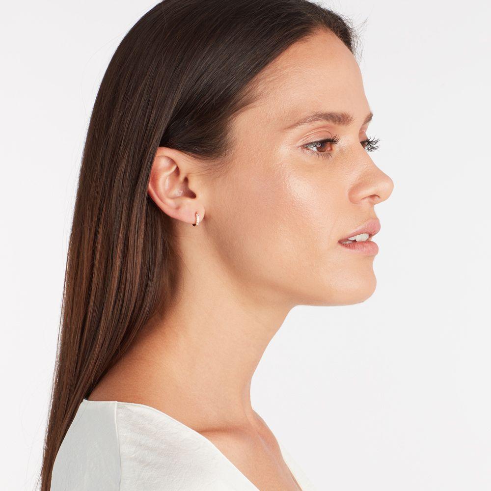 Iva hoop - Single-Ohrringe - 18k vergoldet