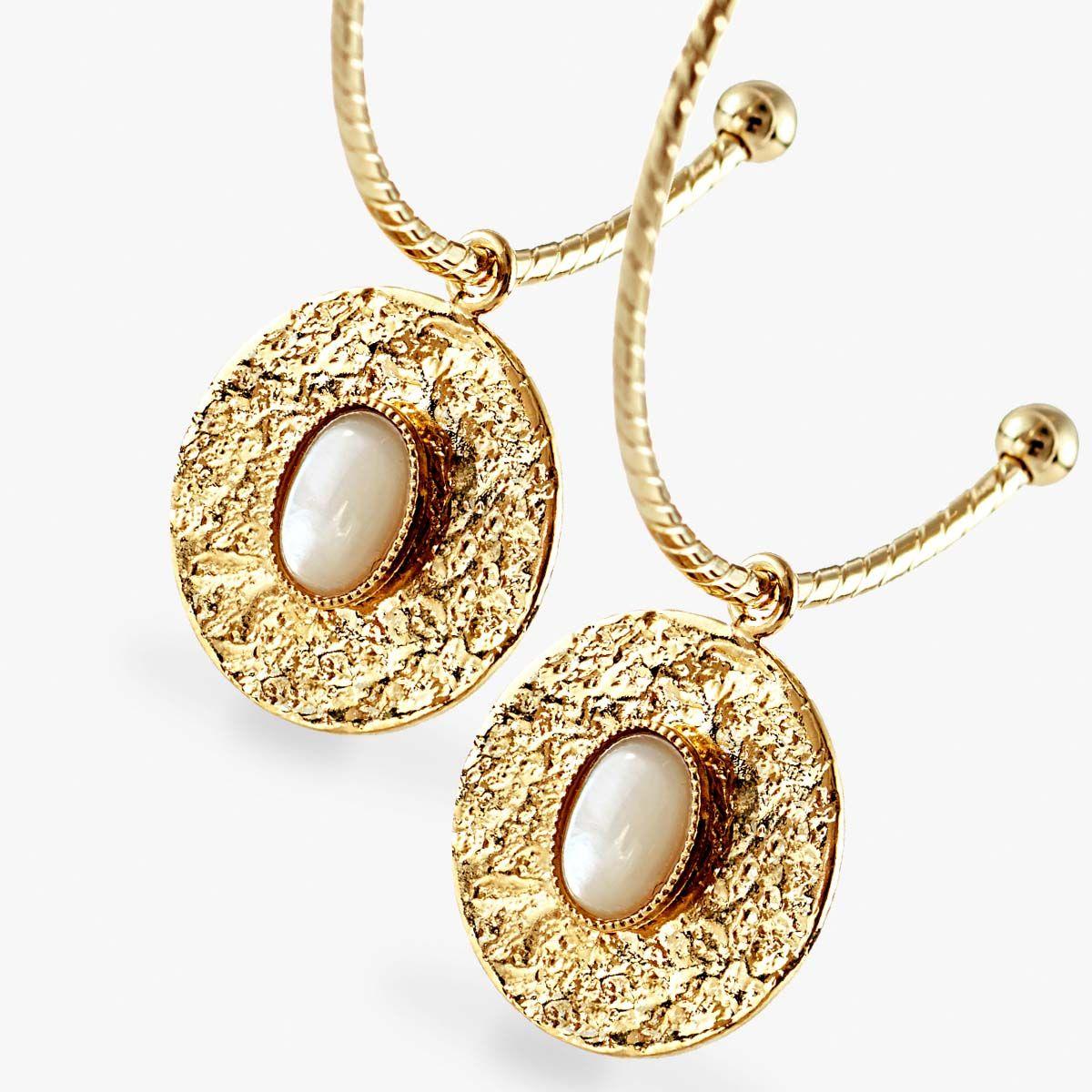 Xira - Perlenohrringe - Gold