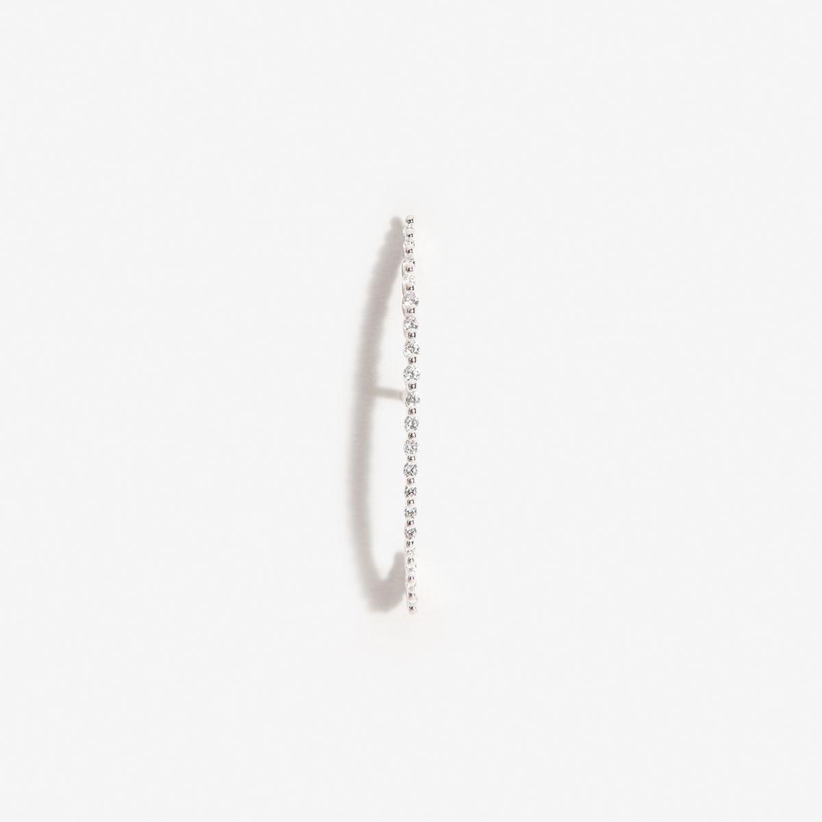 Jackie earring - Single-Ohrringe - Silber