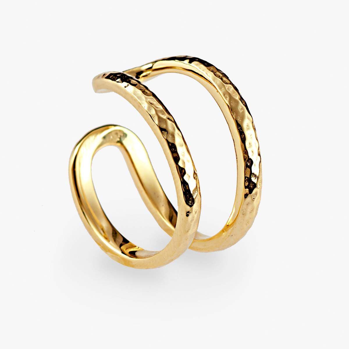 Double ring - Ringe - 18k vergoldet