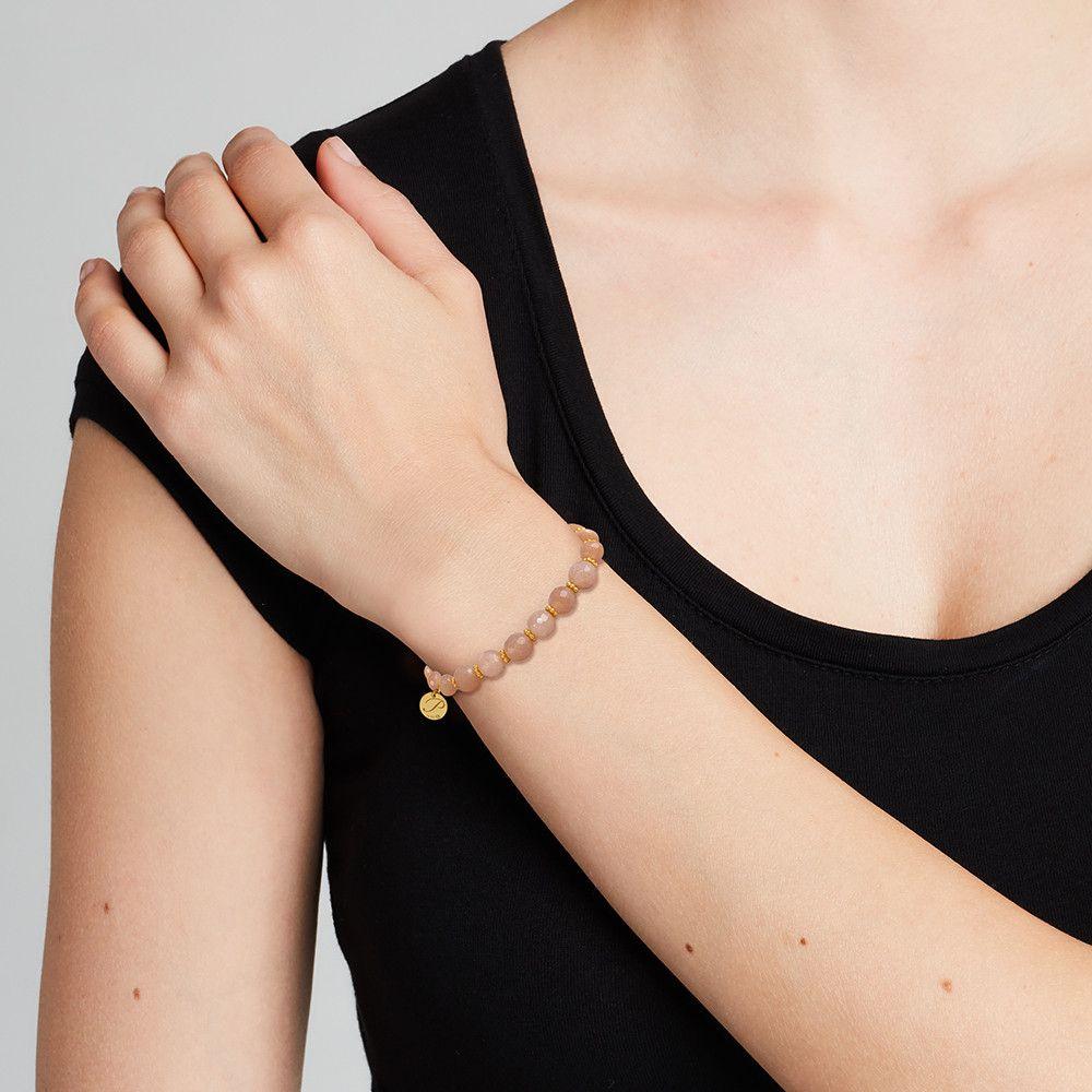 Steinarmbänder - Pfirsich