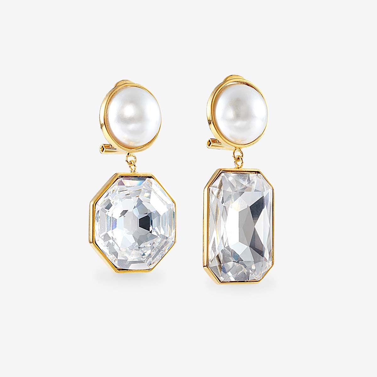 Dynasty Crystal - Ohrstecker - Gold