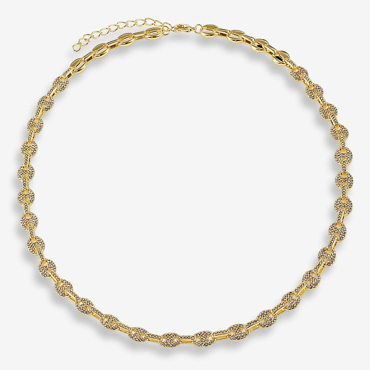 The Pave Mariner Chain Necklace - Halsketten - Gold