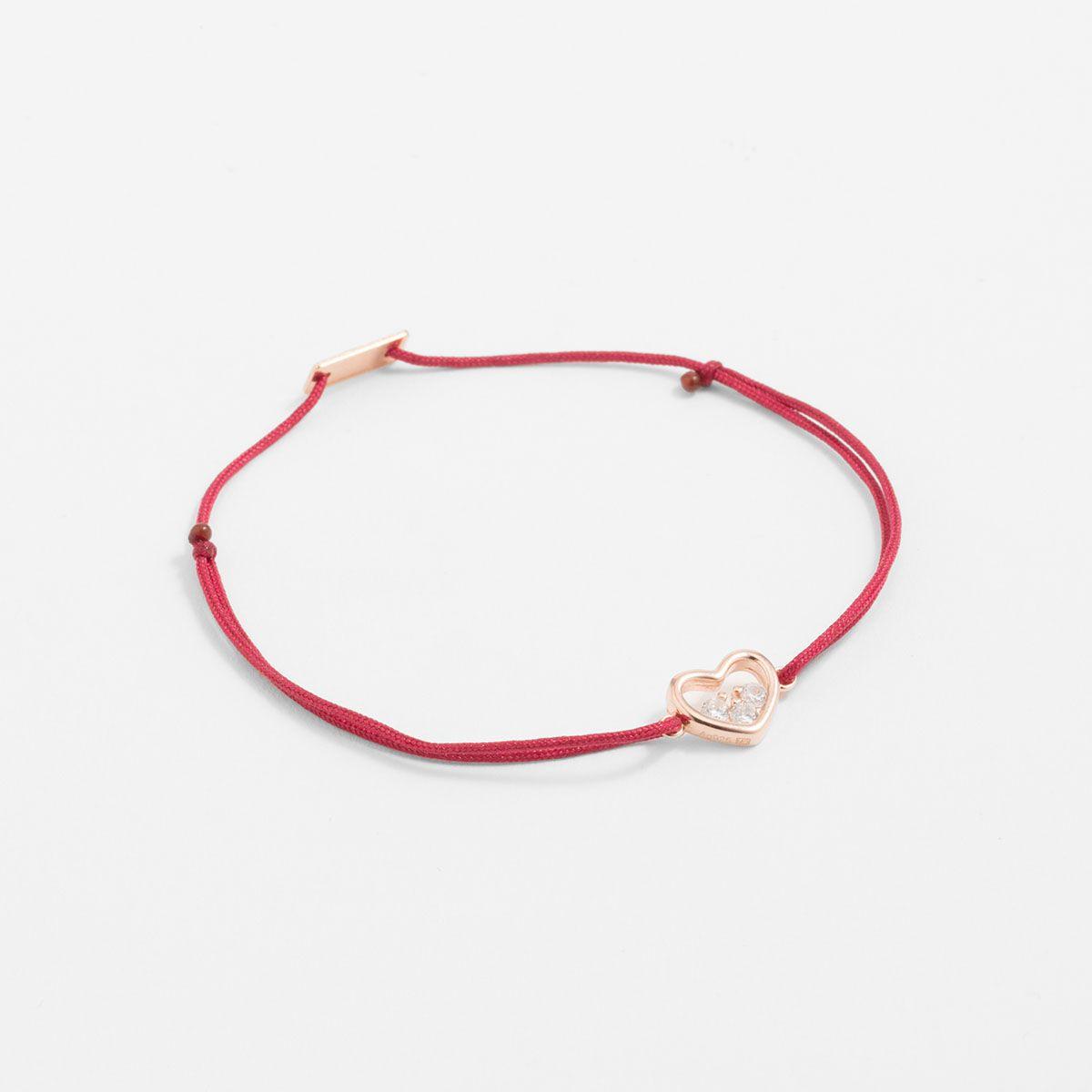 Marlina - Armband - Dunkelrot