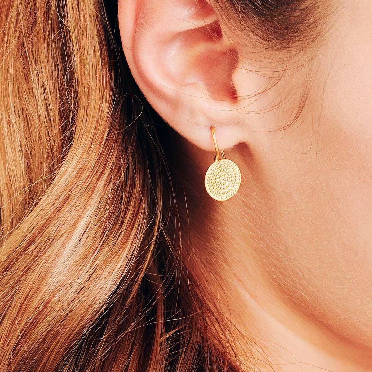 Coin earrings - Ohrhänger - 18k vergoldet