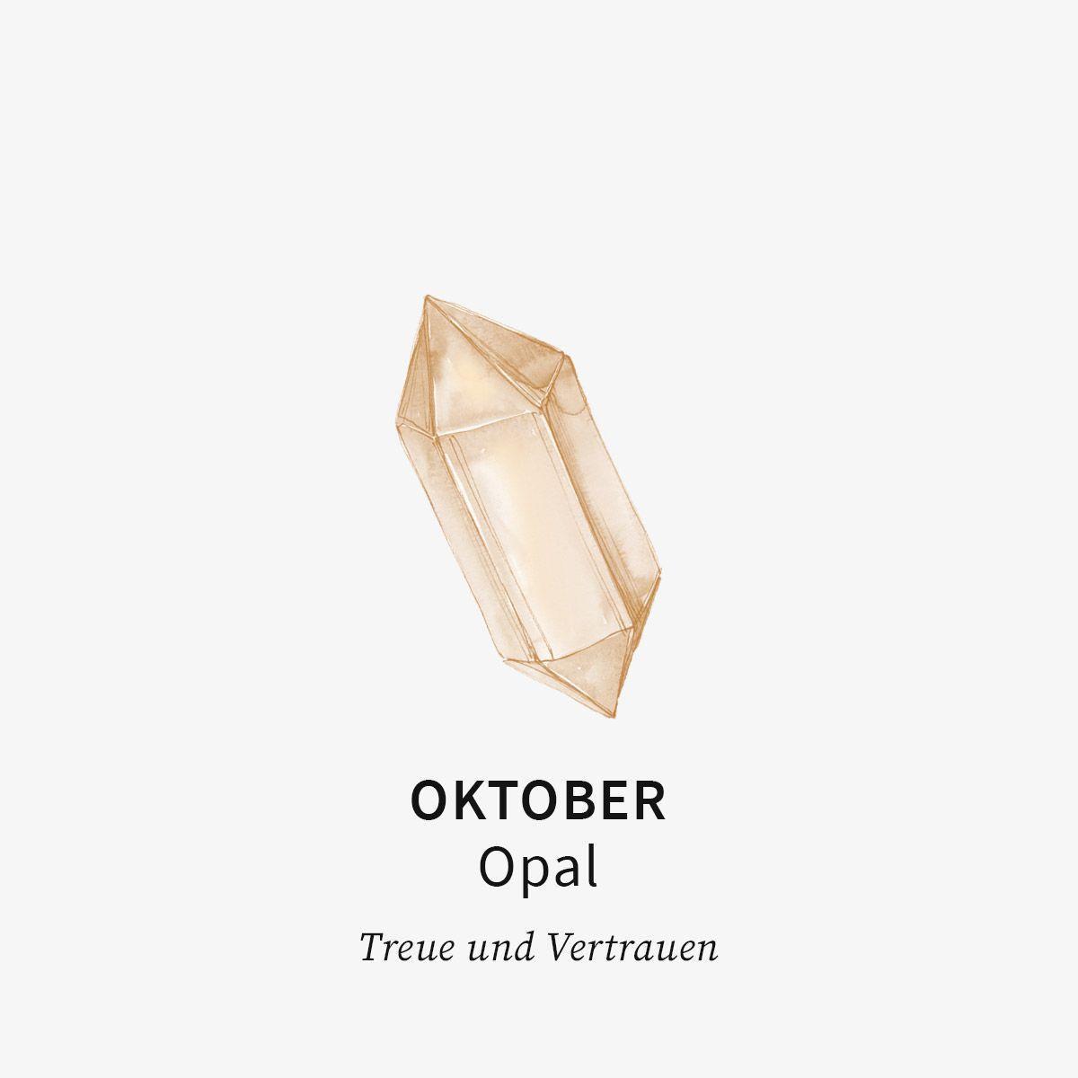 Birthstone October - Halsketten - Silber