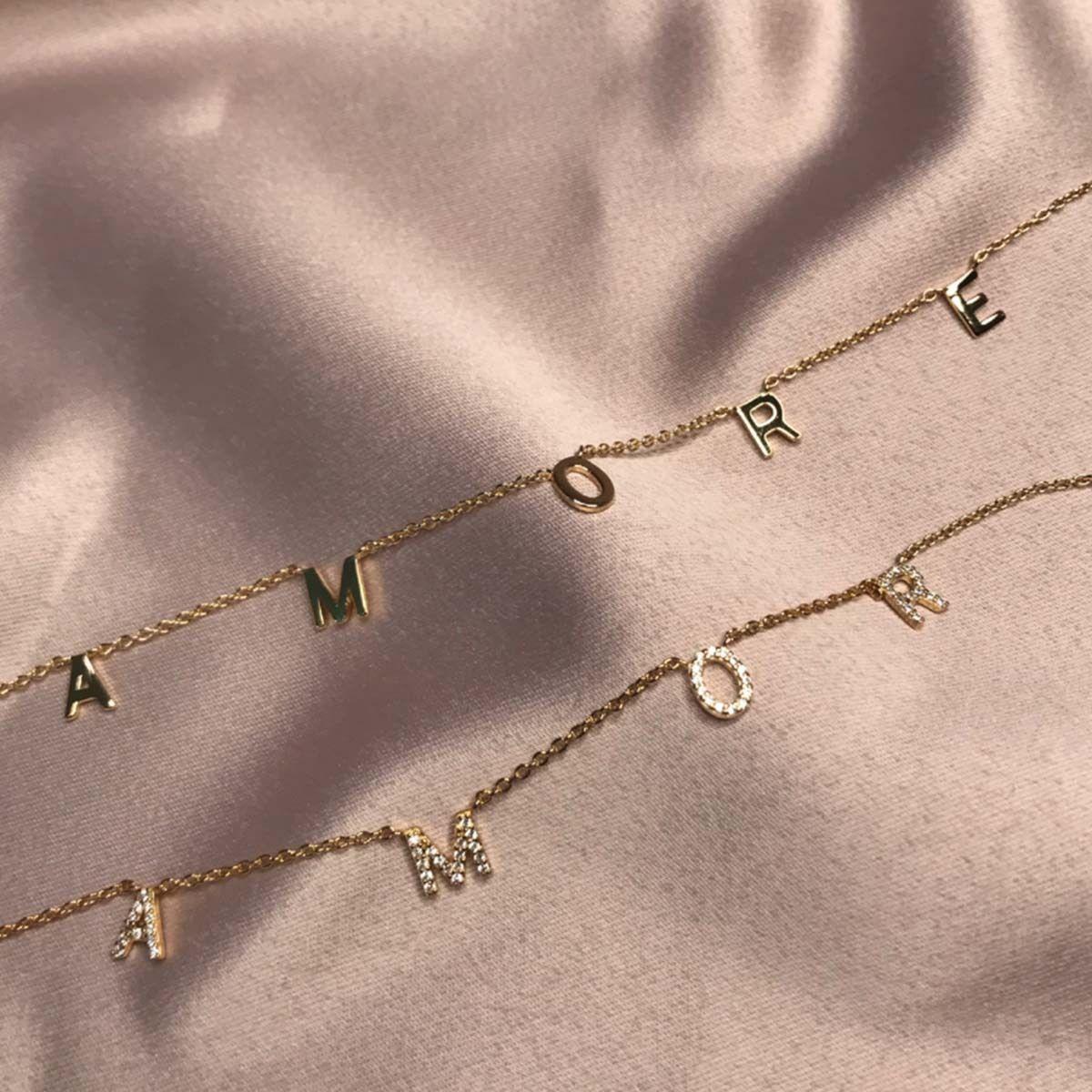 Love - Choker - Gold