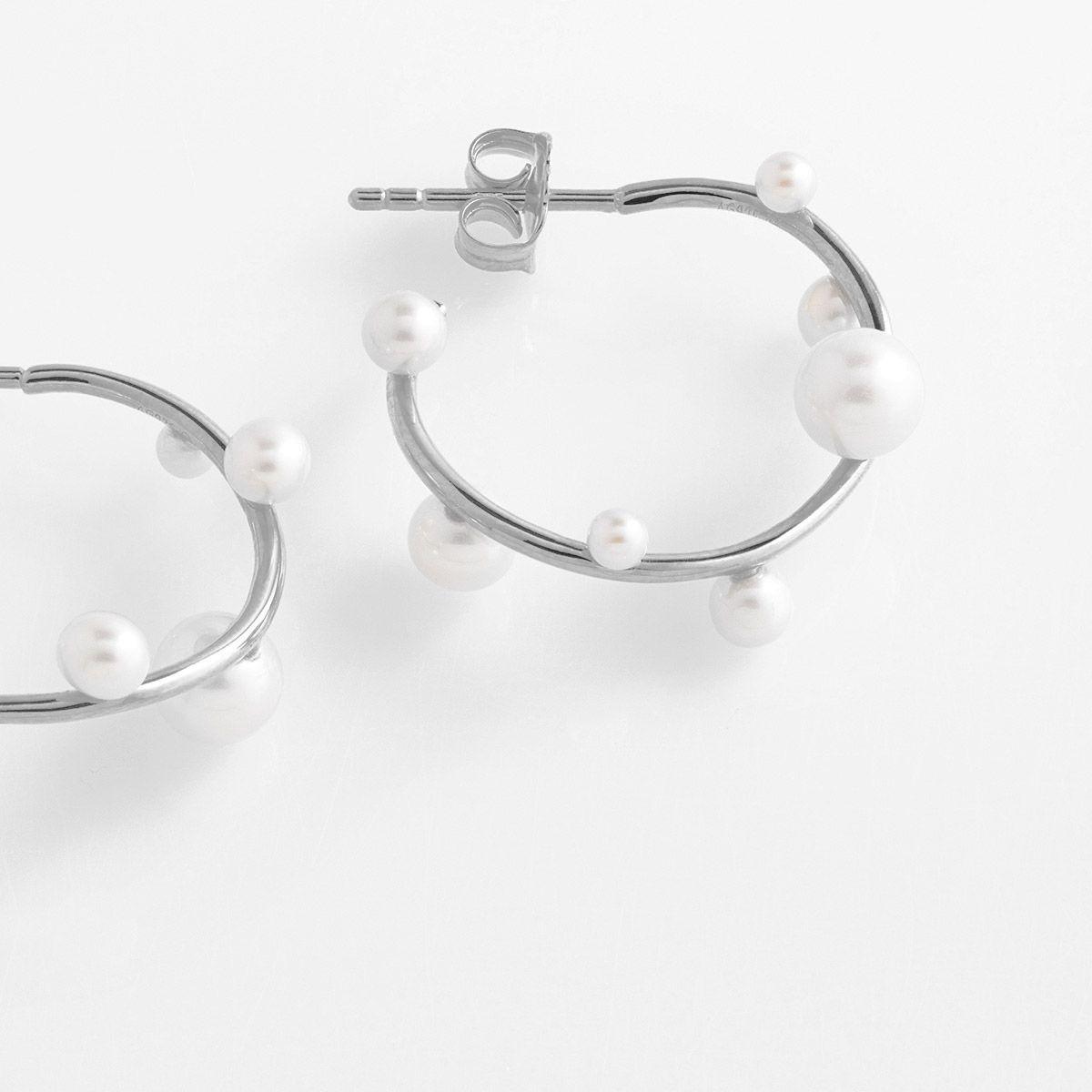 Lana - Perlenohrringe - Silber