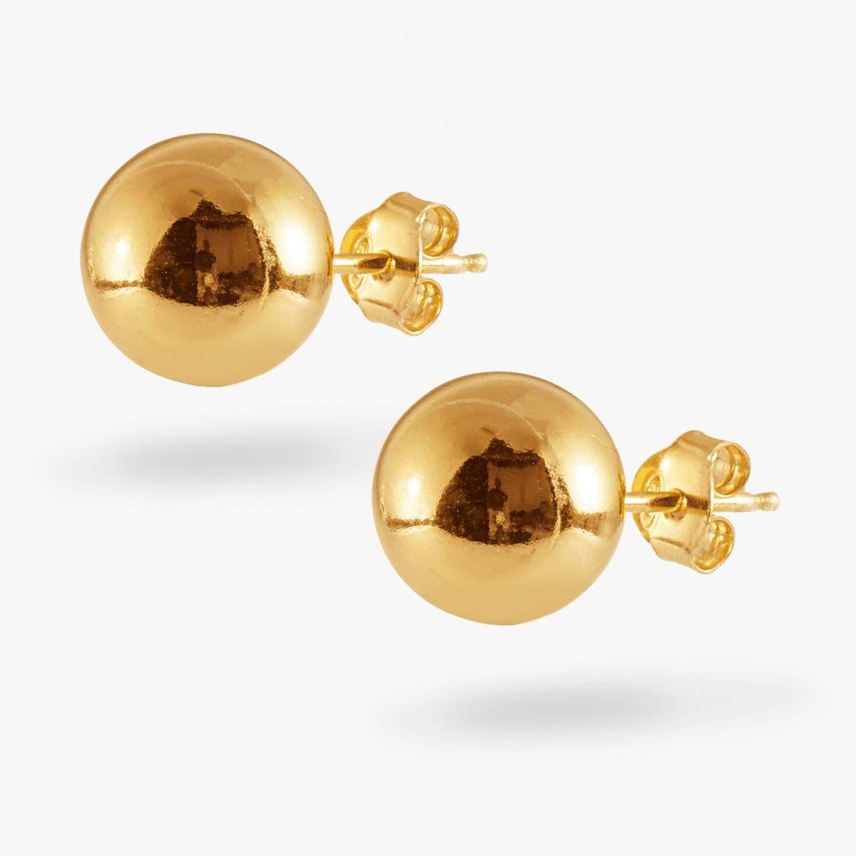 Medium Ball - Ohrstecker - Gold