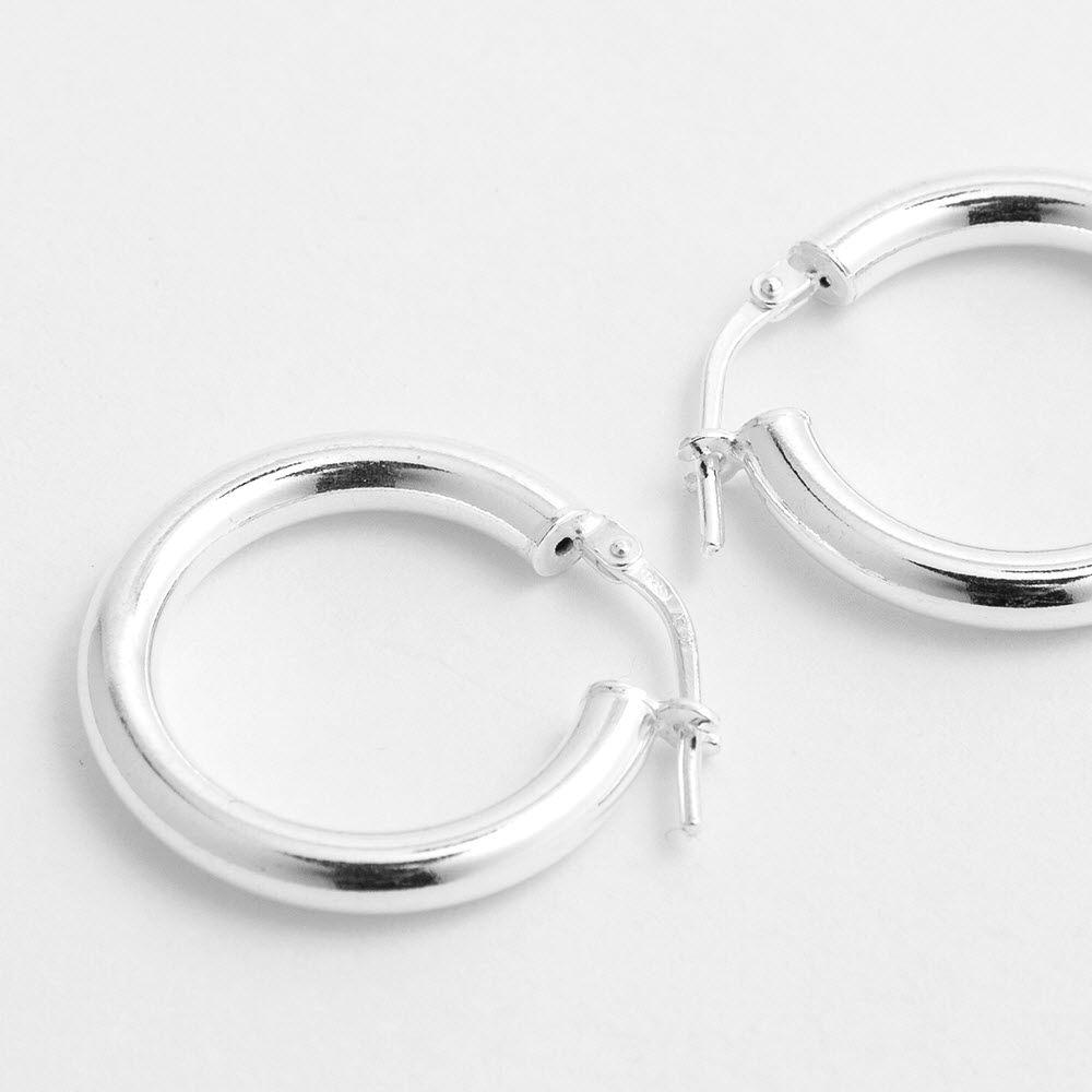 Polished shiny - Creolen - Silber