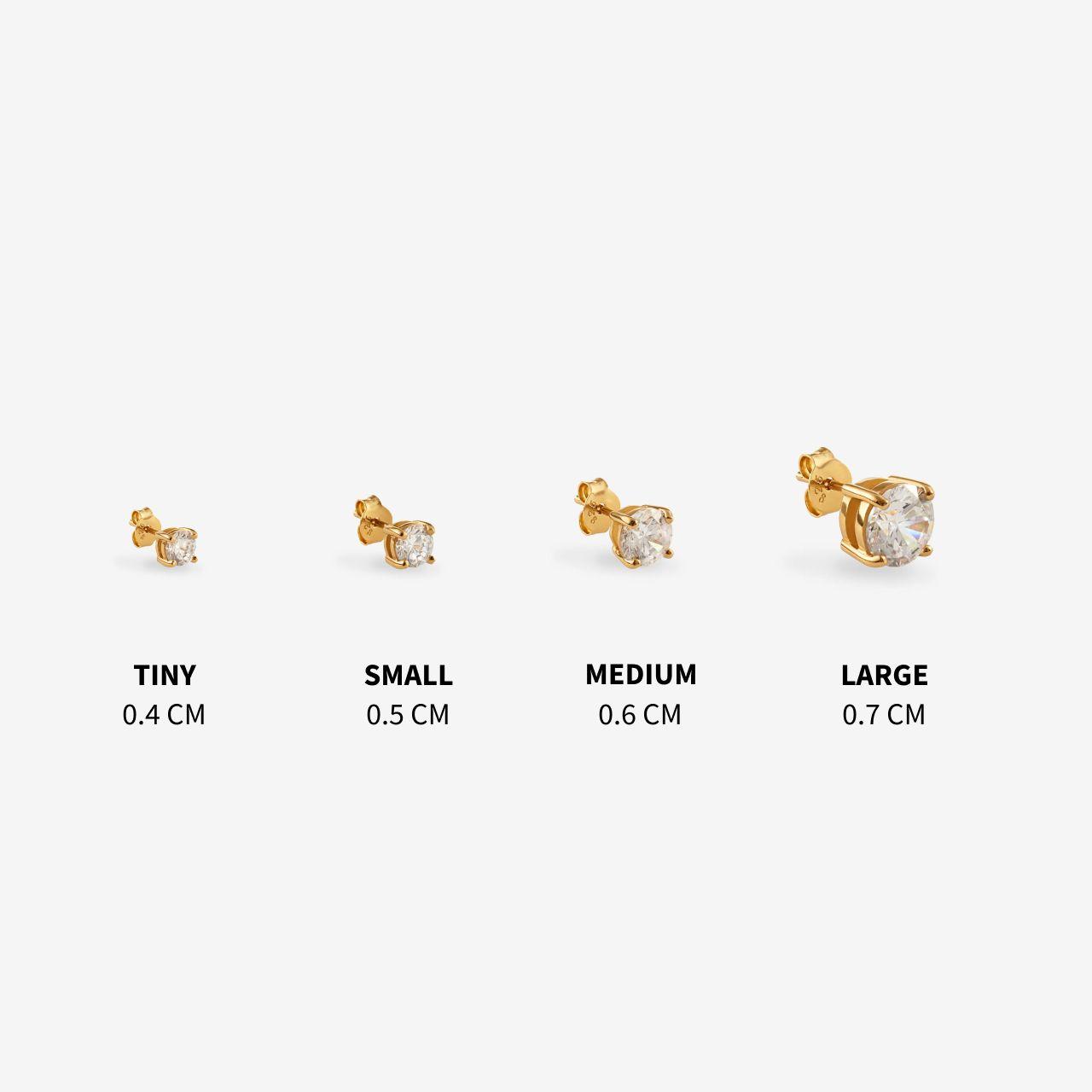 Athena Small - Single-Ohrringe - 18k vergoldet