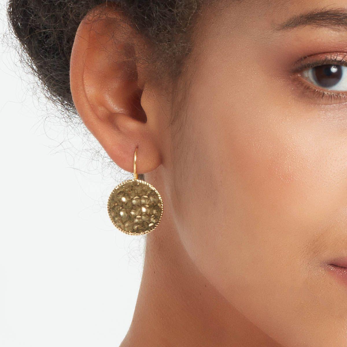 Lilou - Kreolen Anhänger - Gold