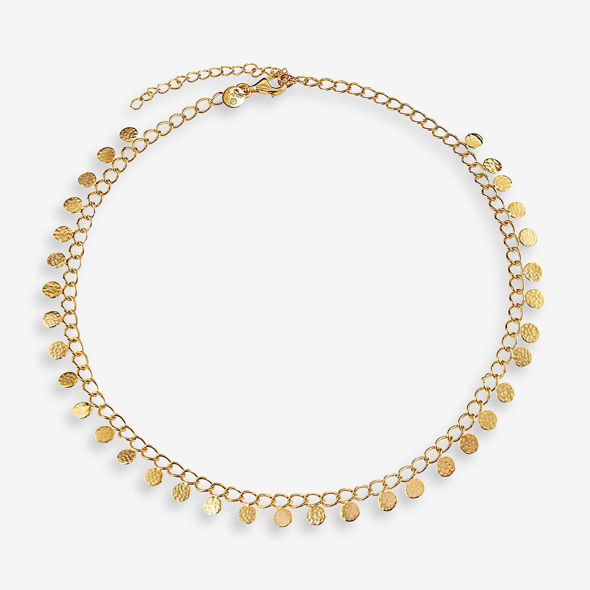 Coin necklace - Halsketten - 18k vergoldet