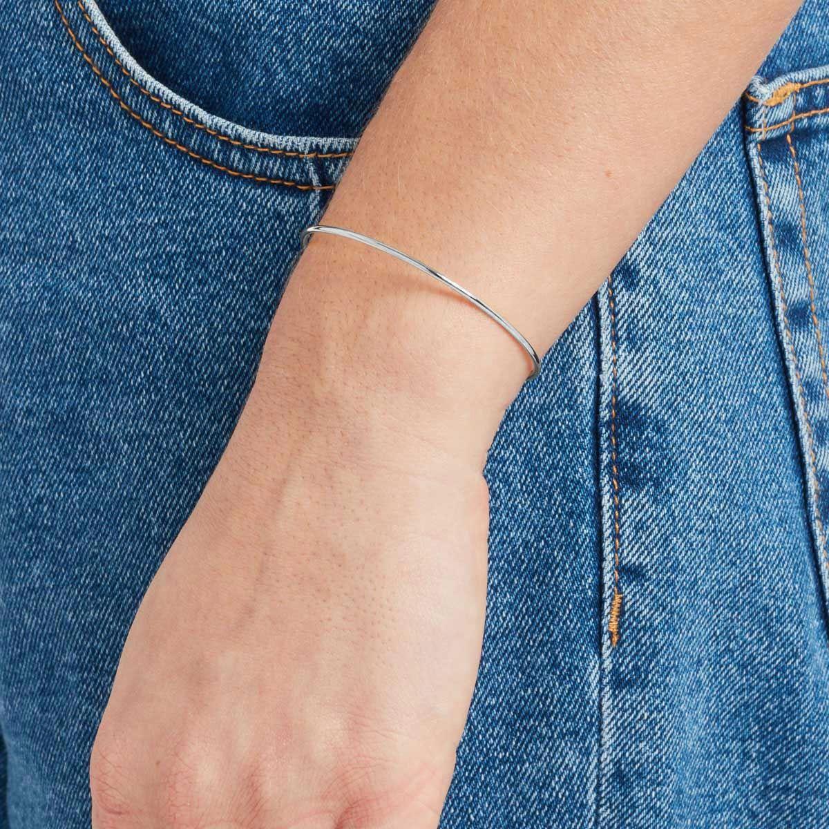 Lou - Armreifen - Silber