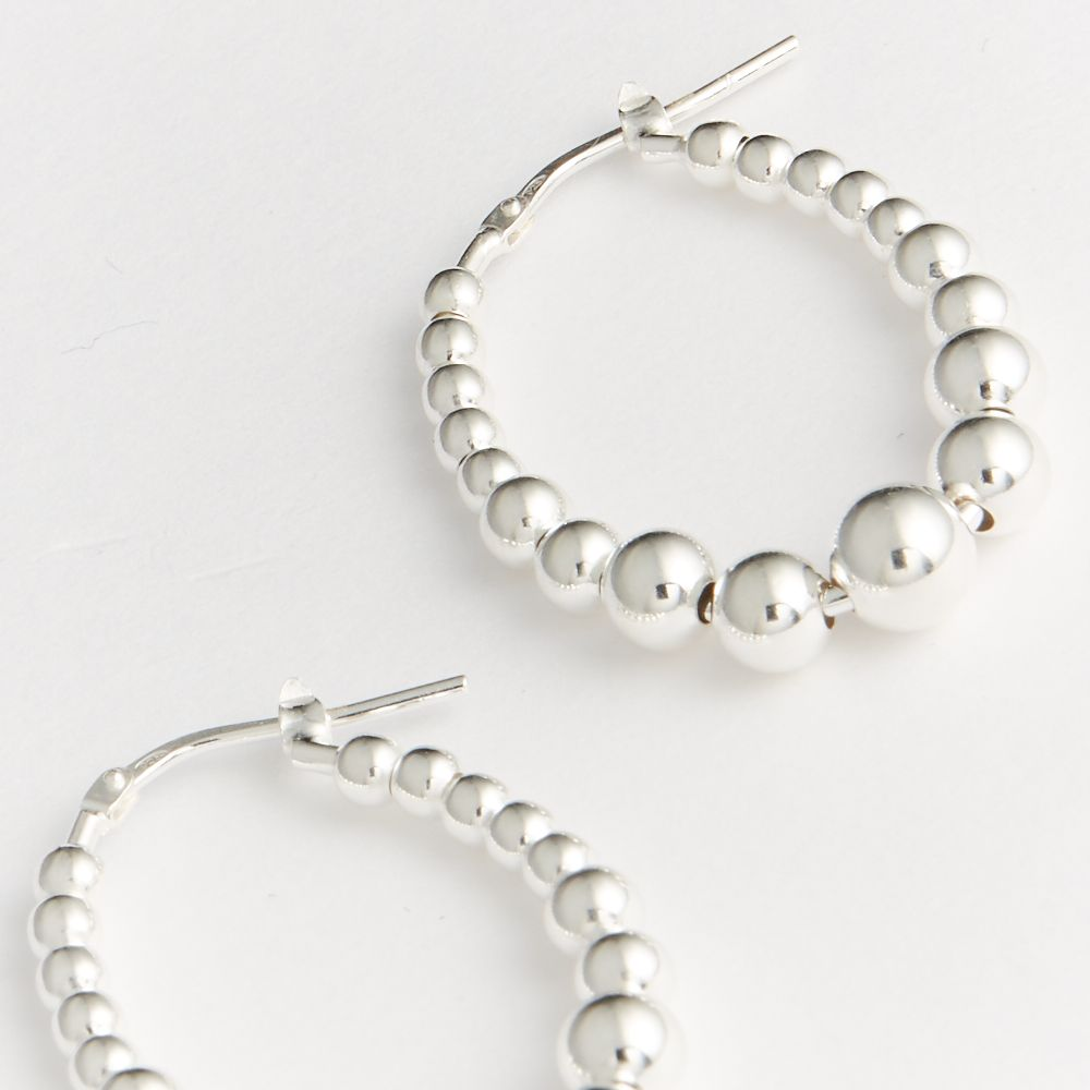 Beaded shiny - Creolen - Silber