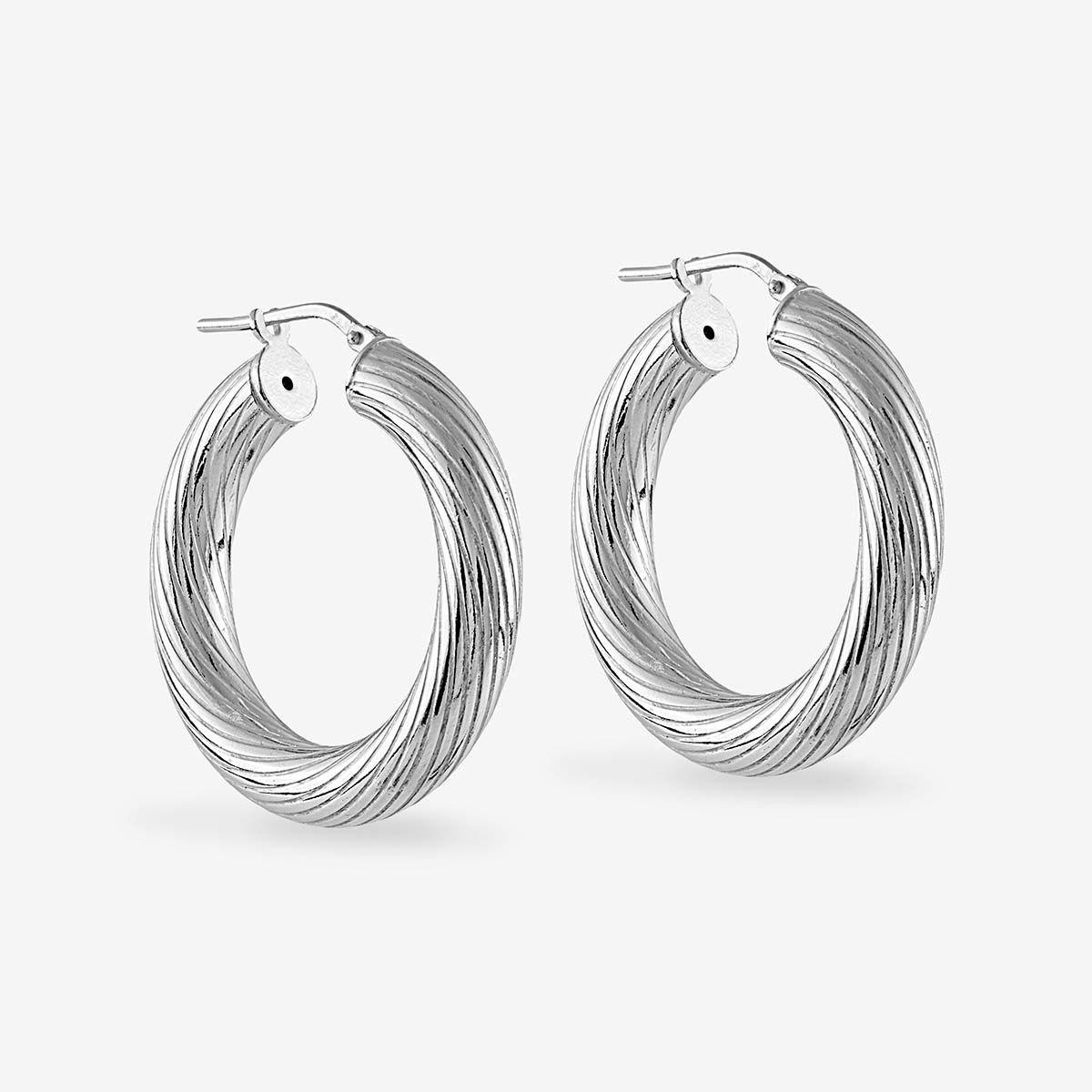 Twisted Medium - Creolen - Silber