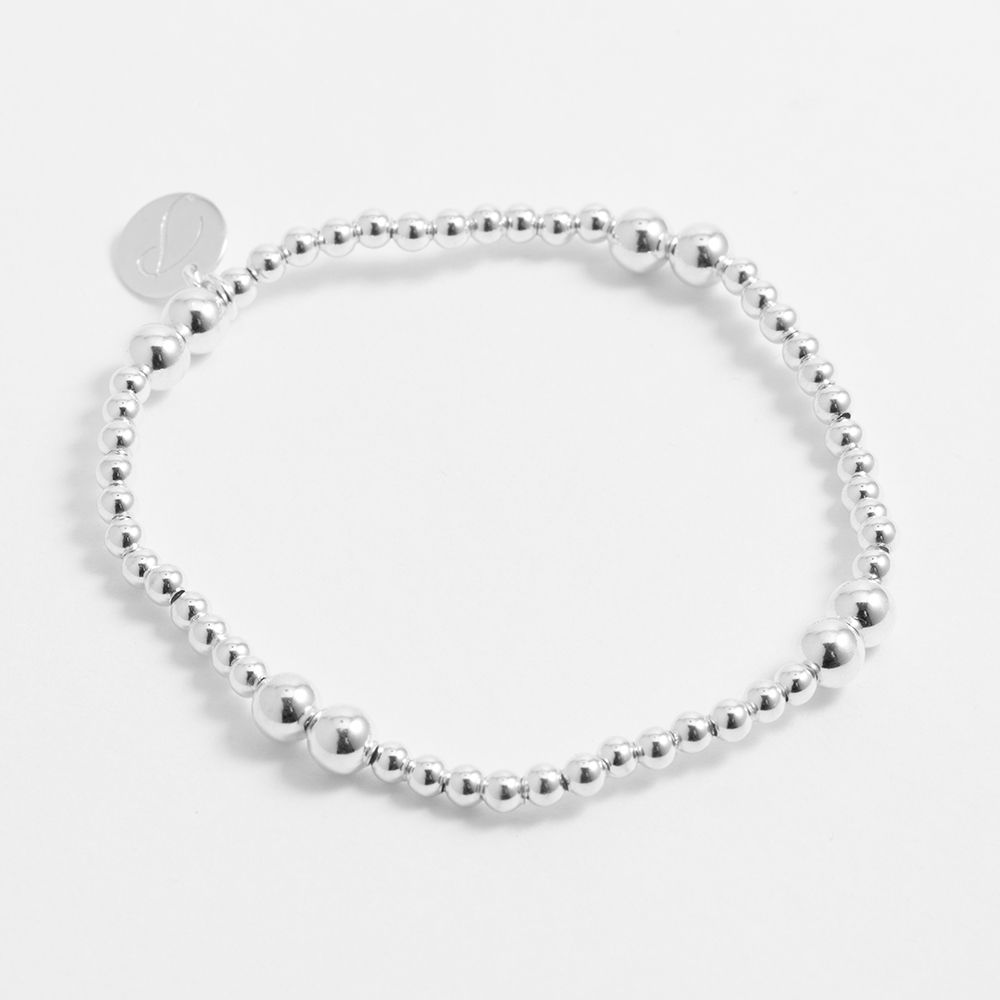 Beaded sterling silver - Armband - Silber