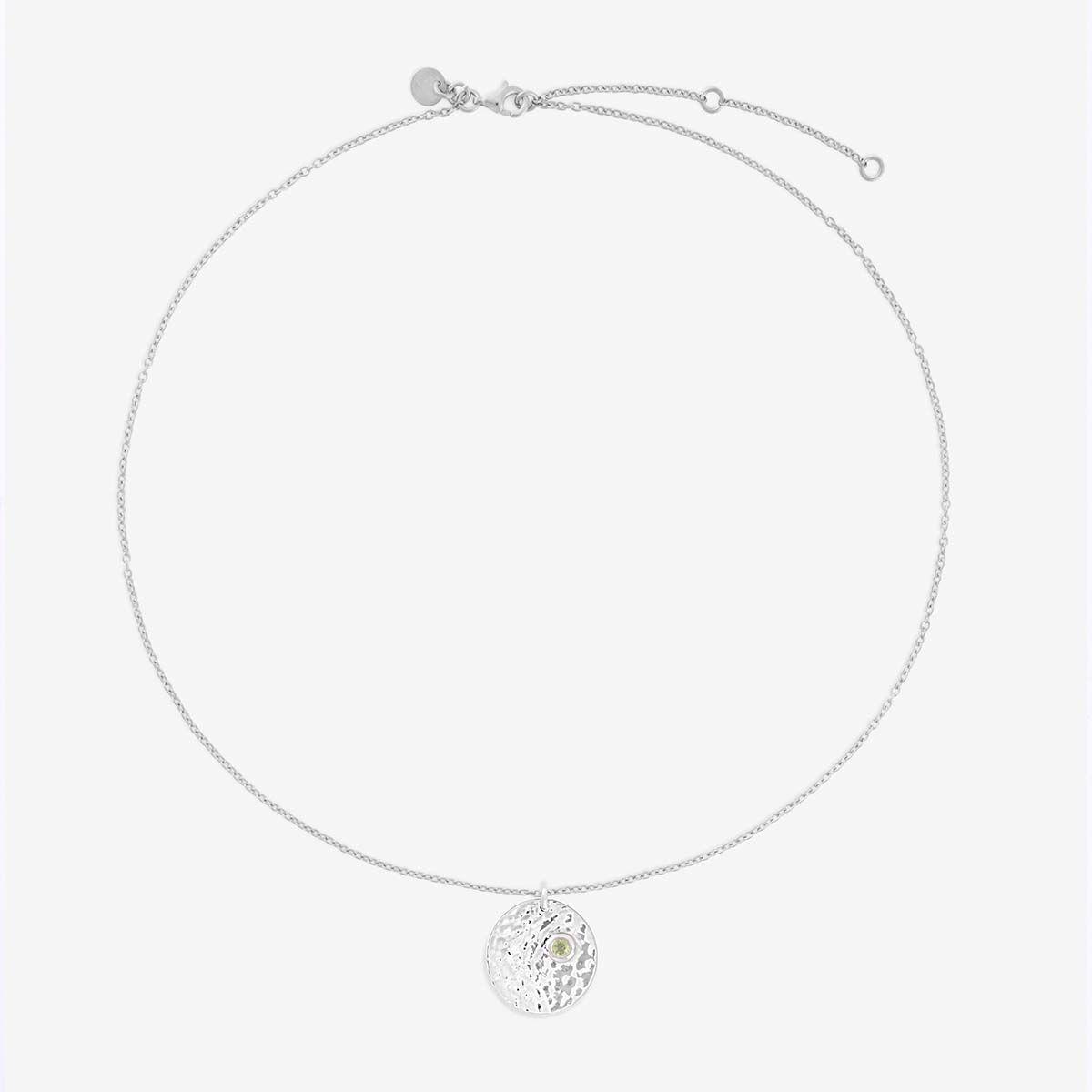 Birthstone August - Halsketten - Silber