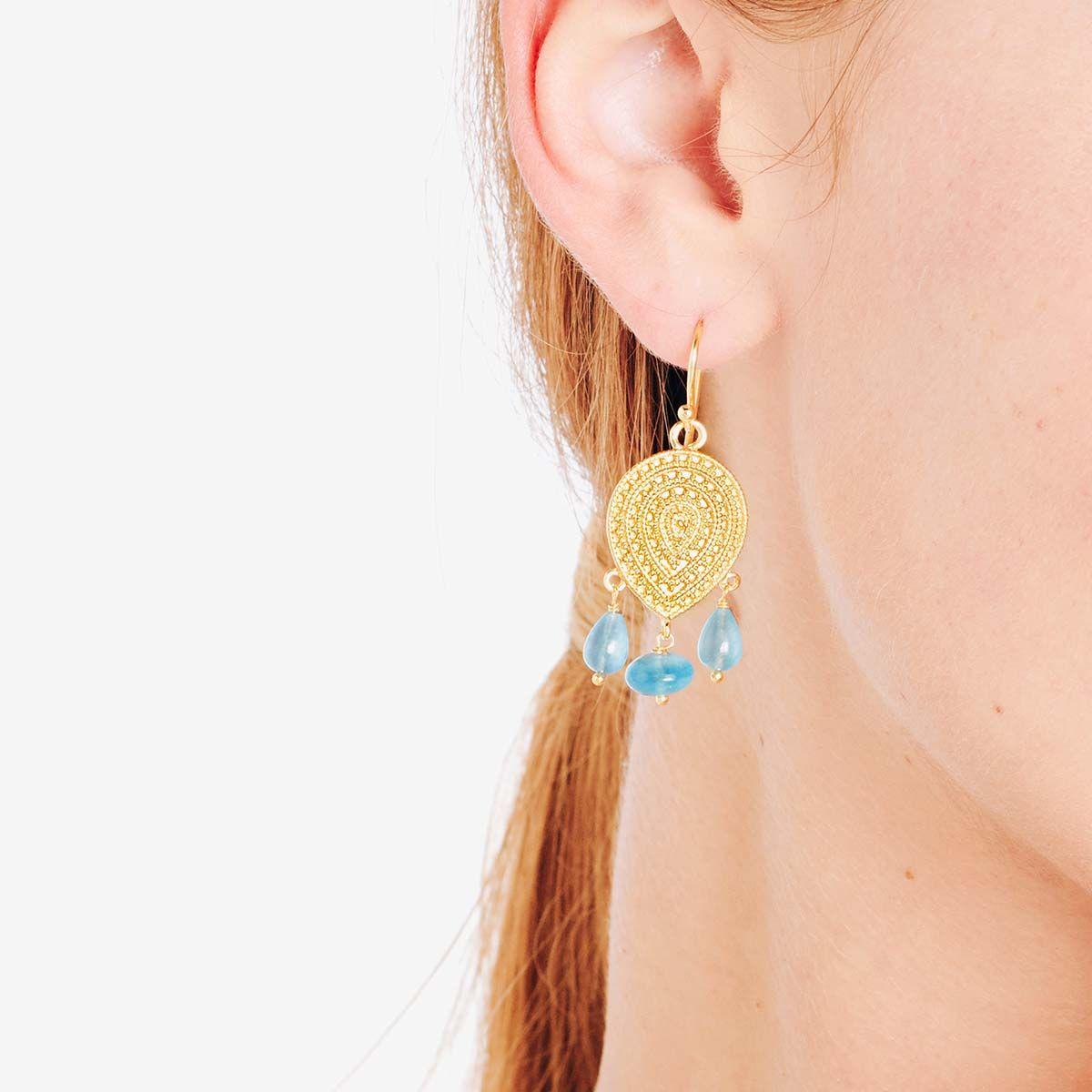 Ohrhänger - 18k vergoldet