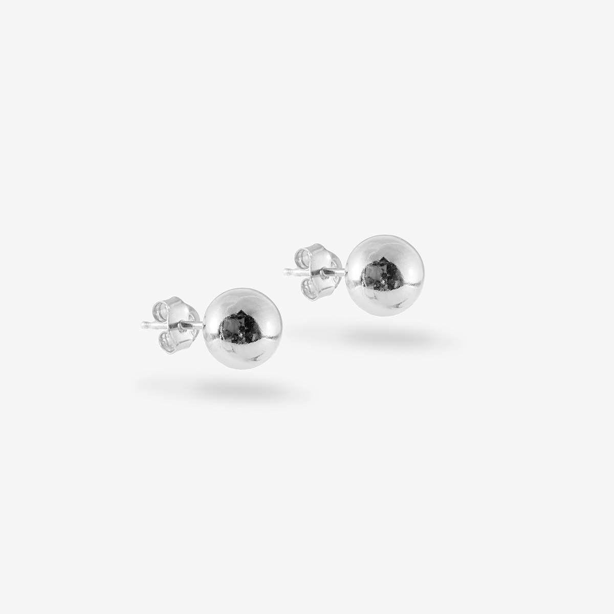 Mini Ball - Ohrstecker - Silber
