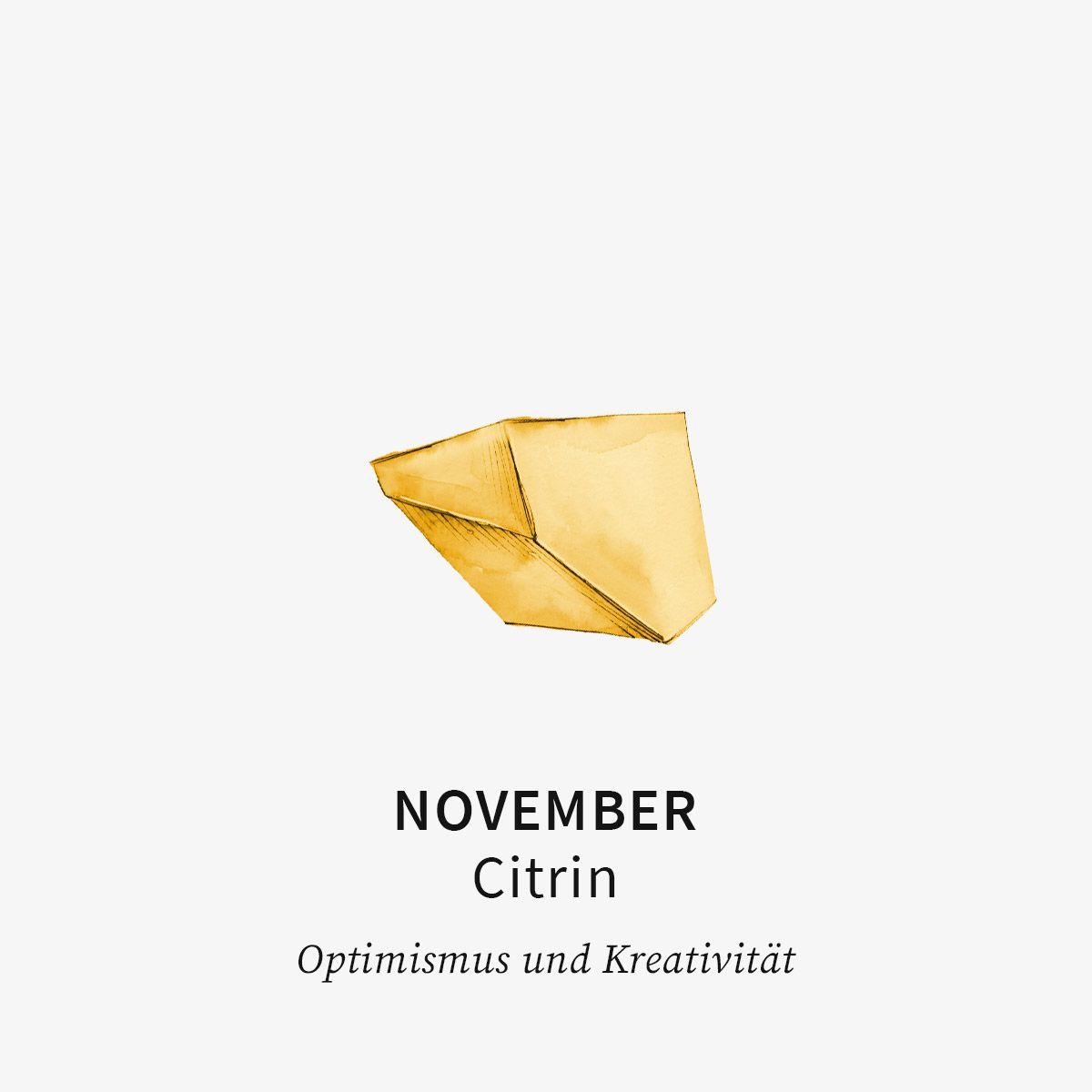 Birthstone November - Halsketten - Gold