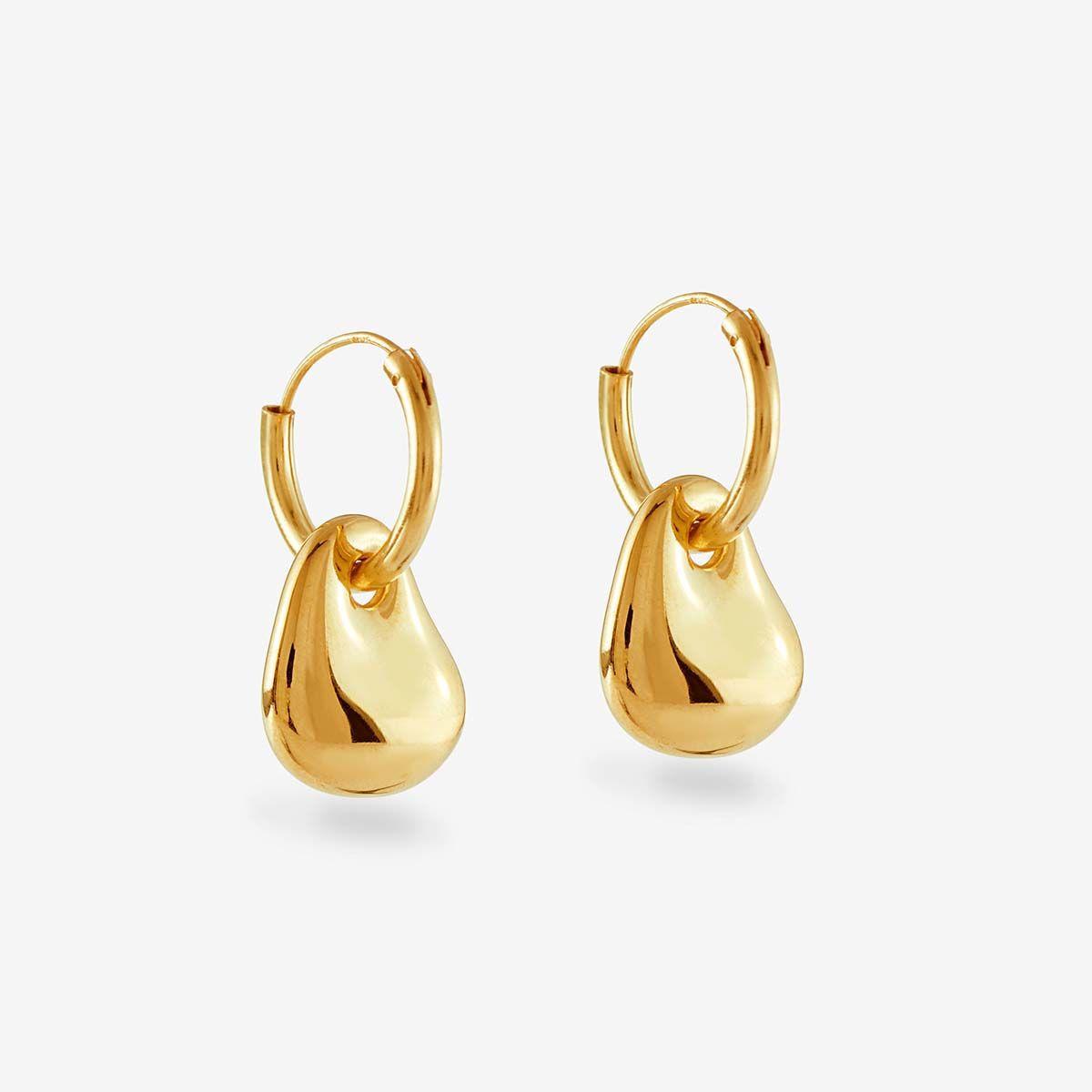Semina Hoops - Ohrhänger - 18k vergoldet