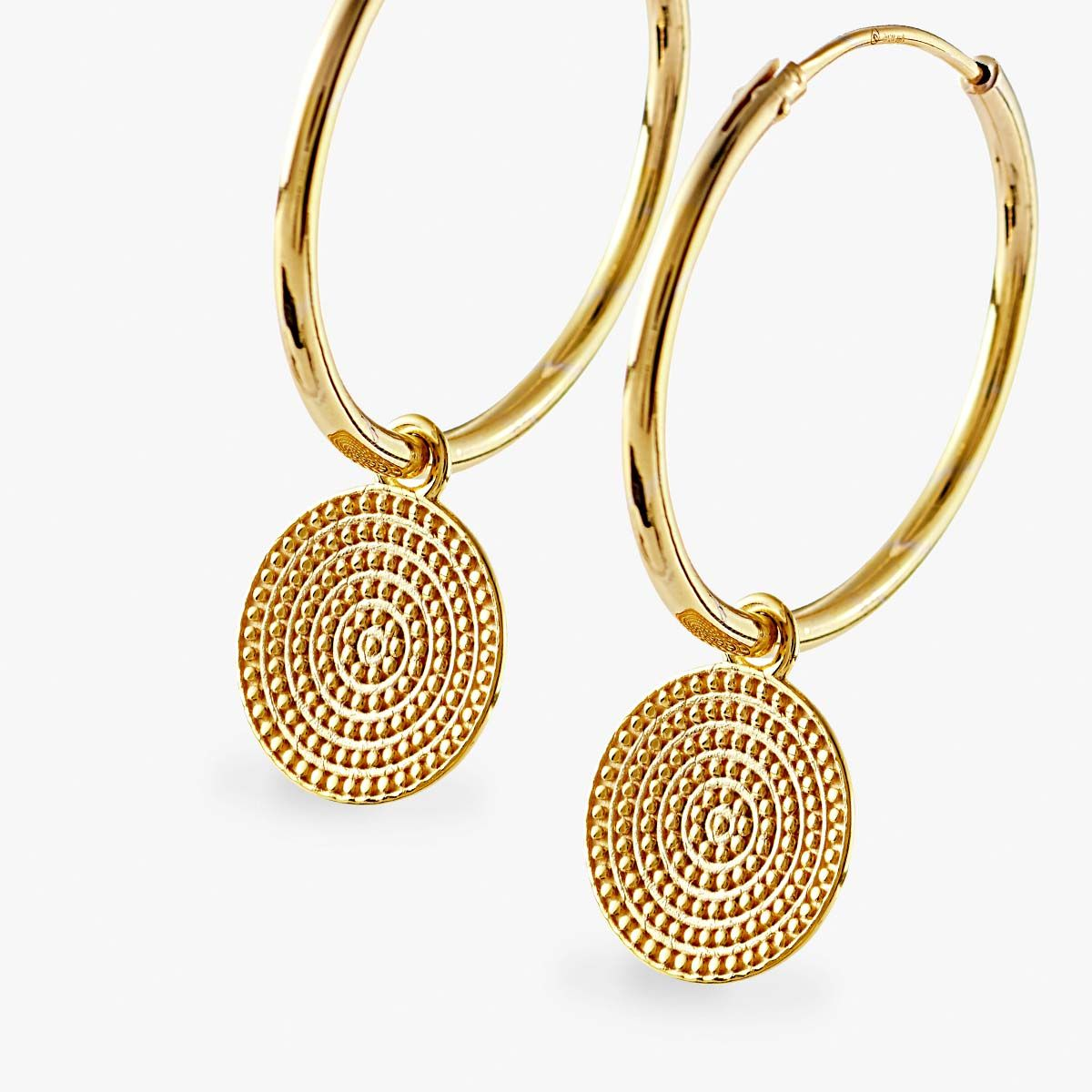 Coin earrings - Creolen - Gold