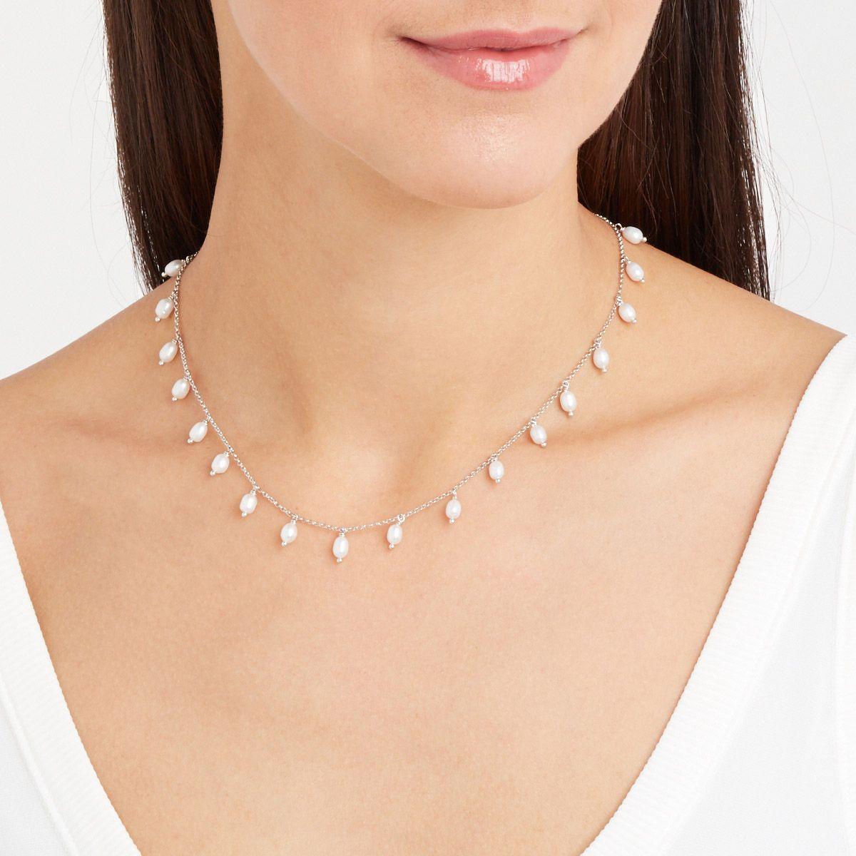 Ramona - PerlenKetten - Silber