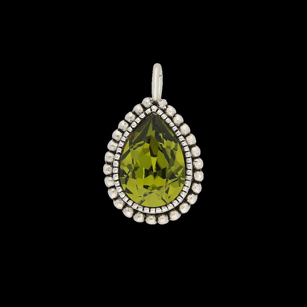 Faceted crystal - Kettenanhänger - Olive