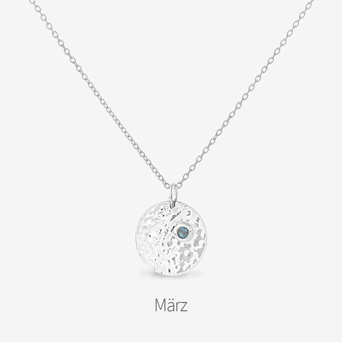 Birthstone March - Halsketten - Silber