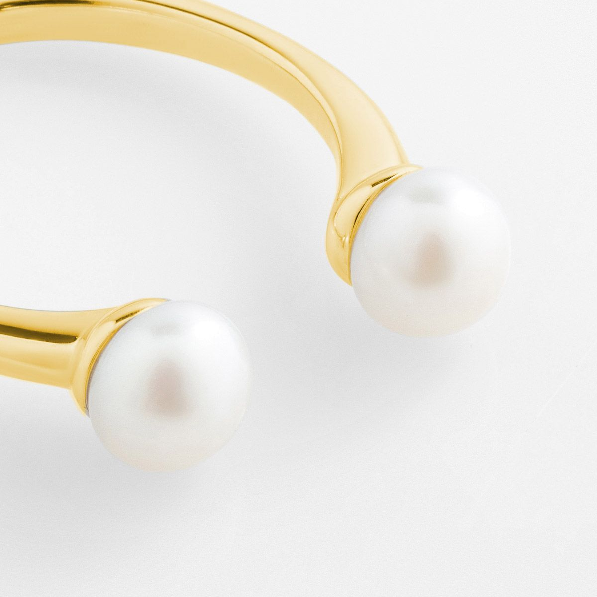 Alva - Perlenring - 14k vergoldet