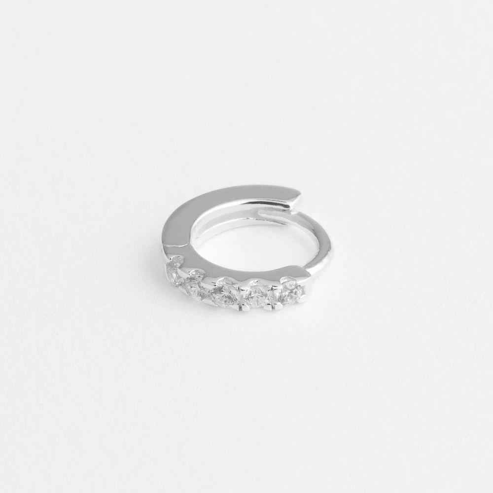 Iva hoop - Single-Ohrringe - Silber