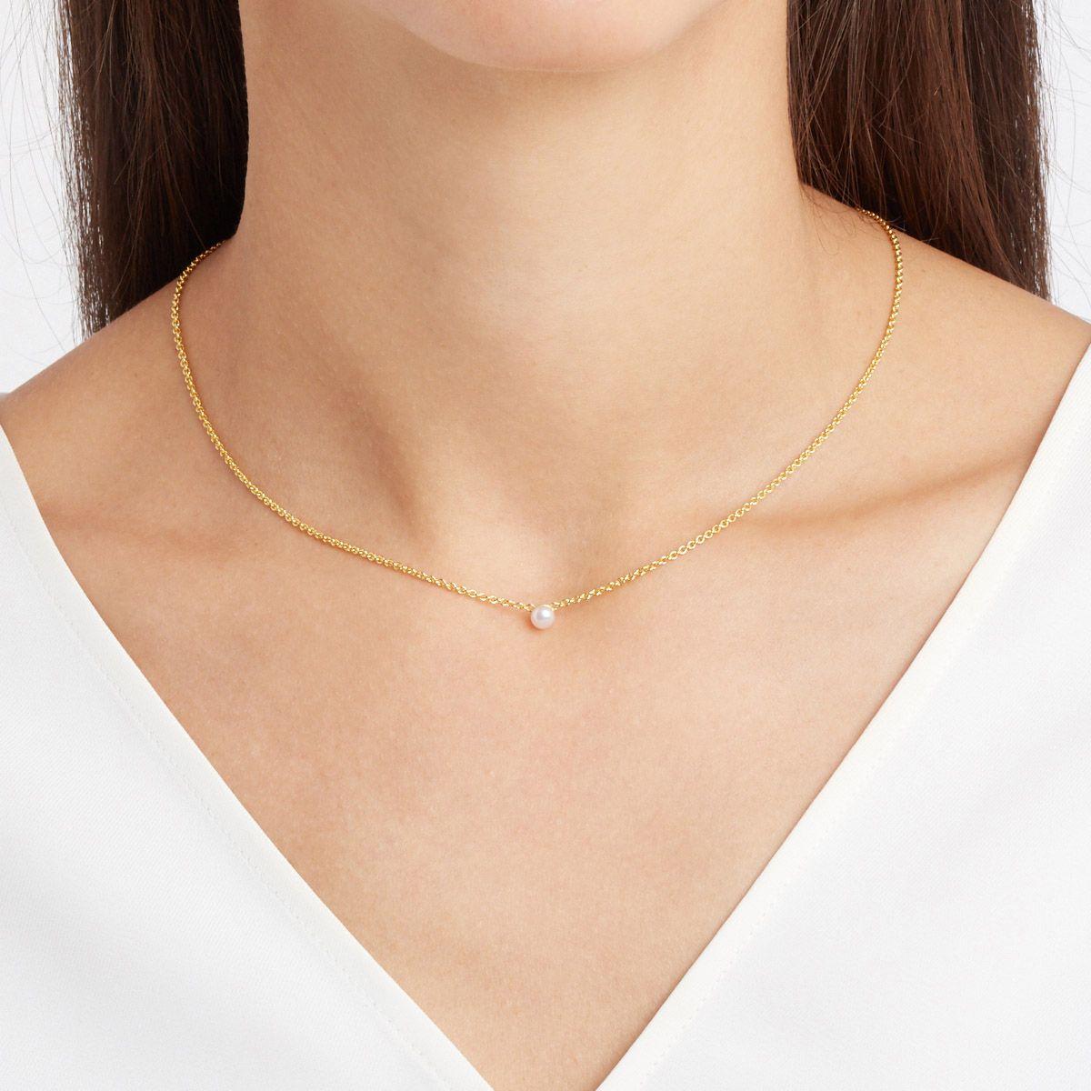Sinja - Perlenketten - 14k vergoldet