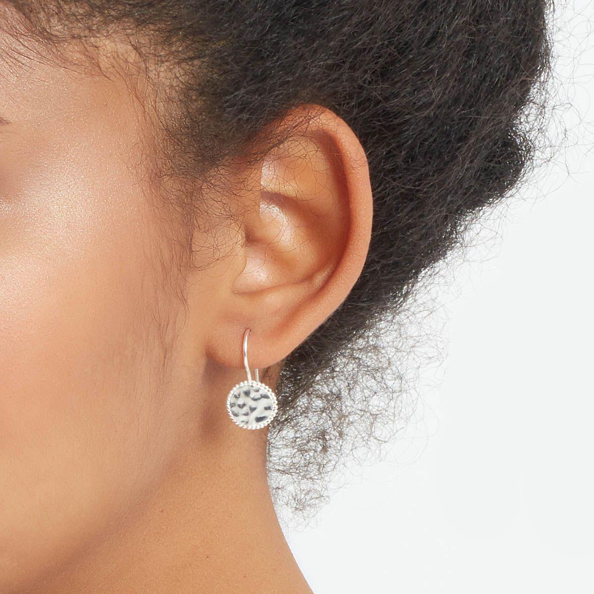 Lilou - Kreolen Anhänger - Silber