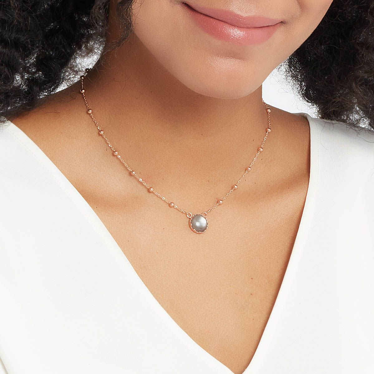 Vivien - Halsketten - Grau