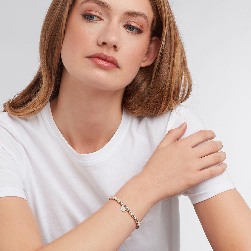 Elastische Armbänder - Silber