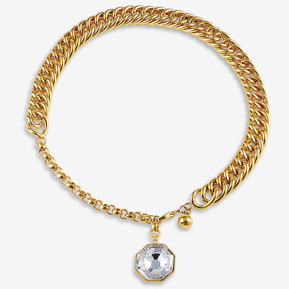 Sharon Chain Necklace - Statement-Ketten - Gold