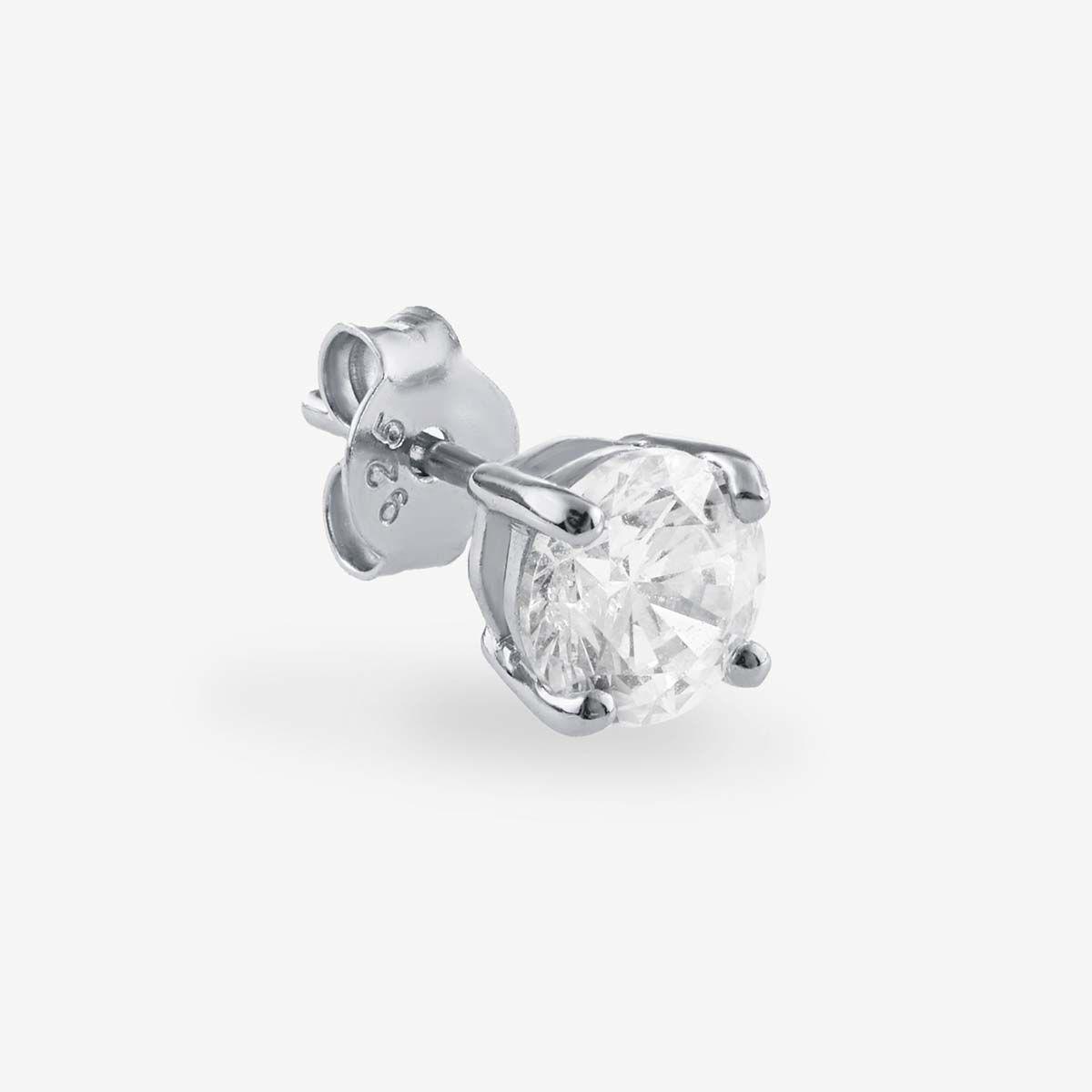 Athena Medium - Single-Ohrringe - Silber
