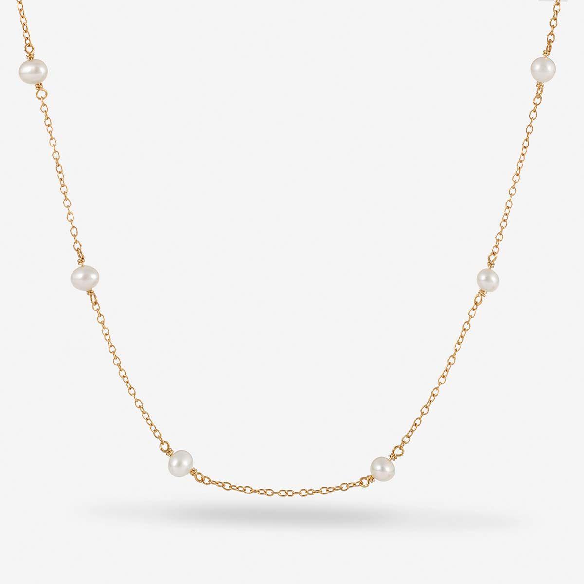Roxy - Perlenketten - 18k vergoldet