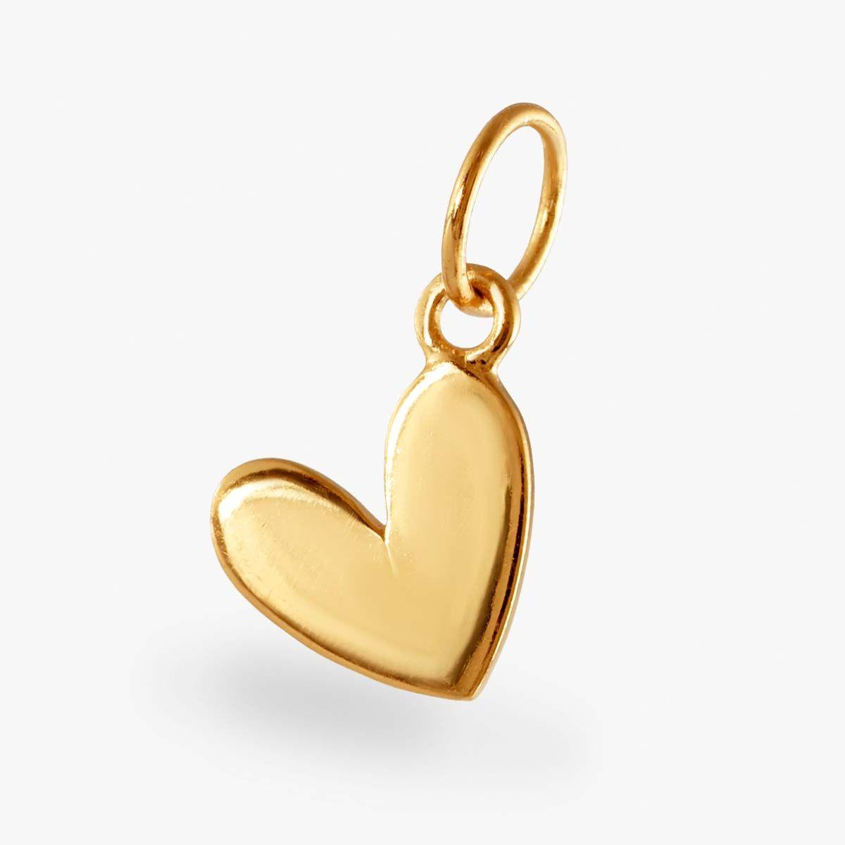 Herz Anhänger - Kettenanhänger - 18k vergoldet