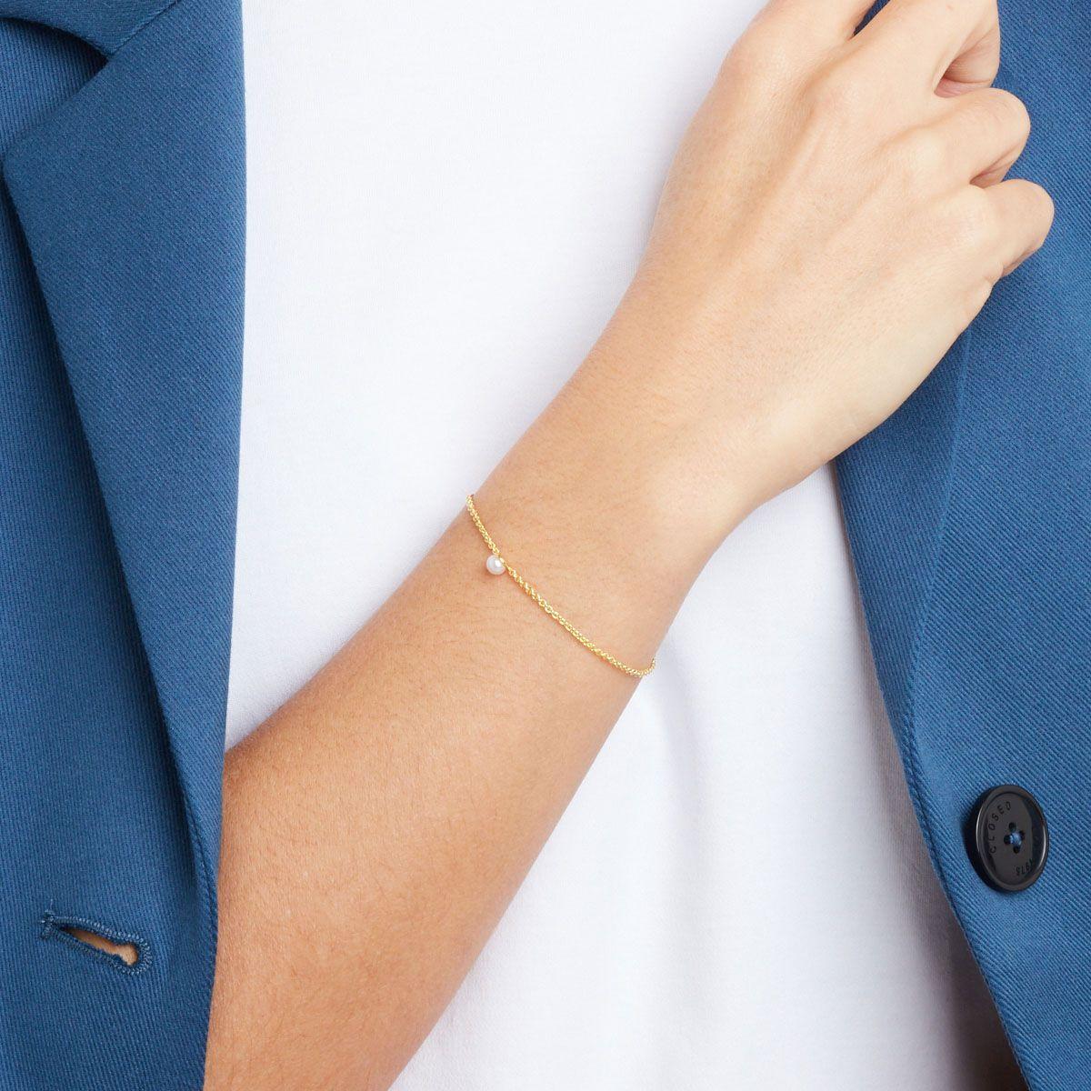 Rika - Perlenarmband - 14k vergoldet