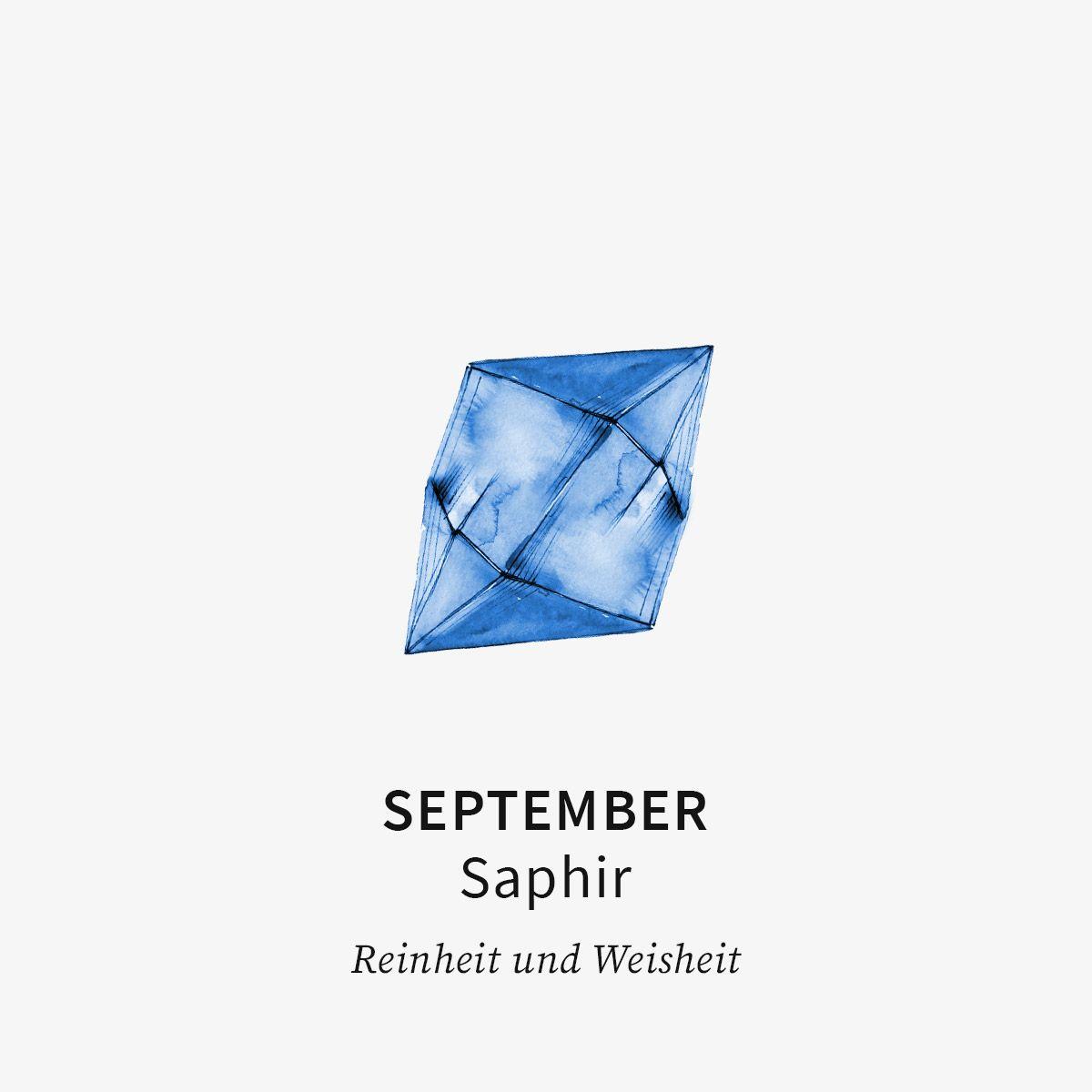 Birthstone September - Halsketten - 18k vergoldet
