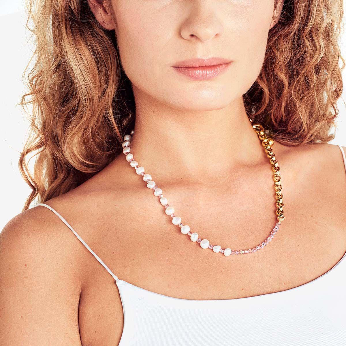 Tahiti Pink Necklace - Halsketten - Gold