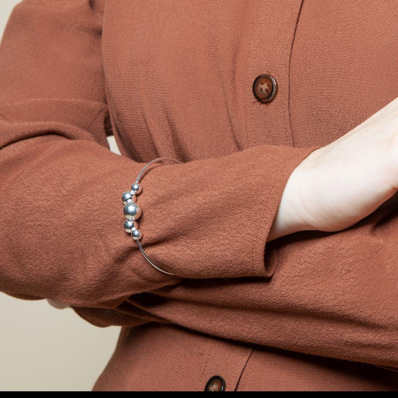 Beaded - Armreifen - Silber